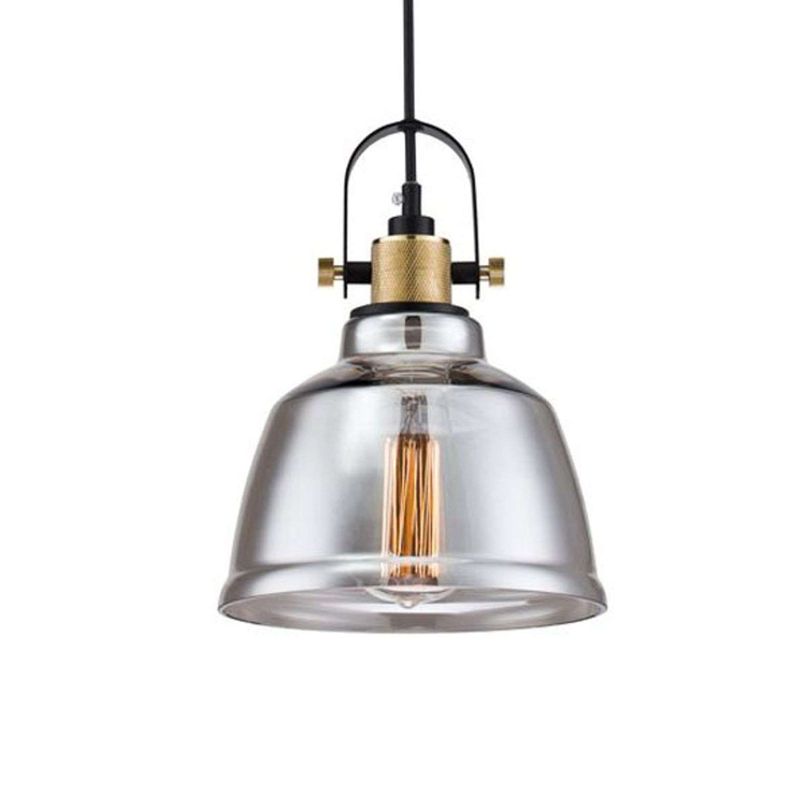 Suspension vintage Irving en verre