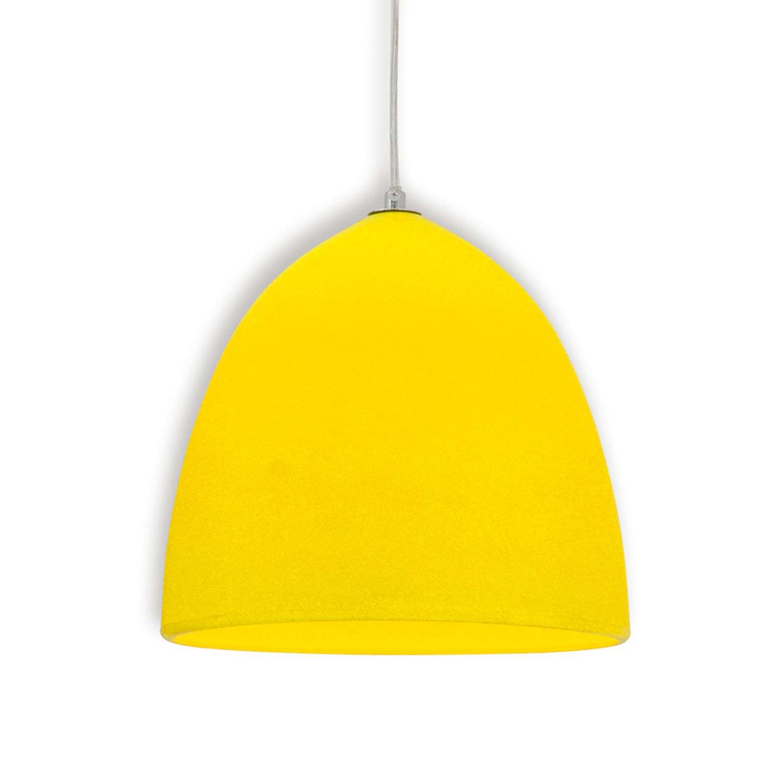Suspension en silicone Fancy, jaune