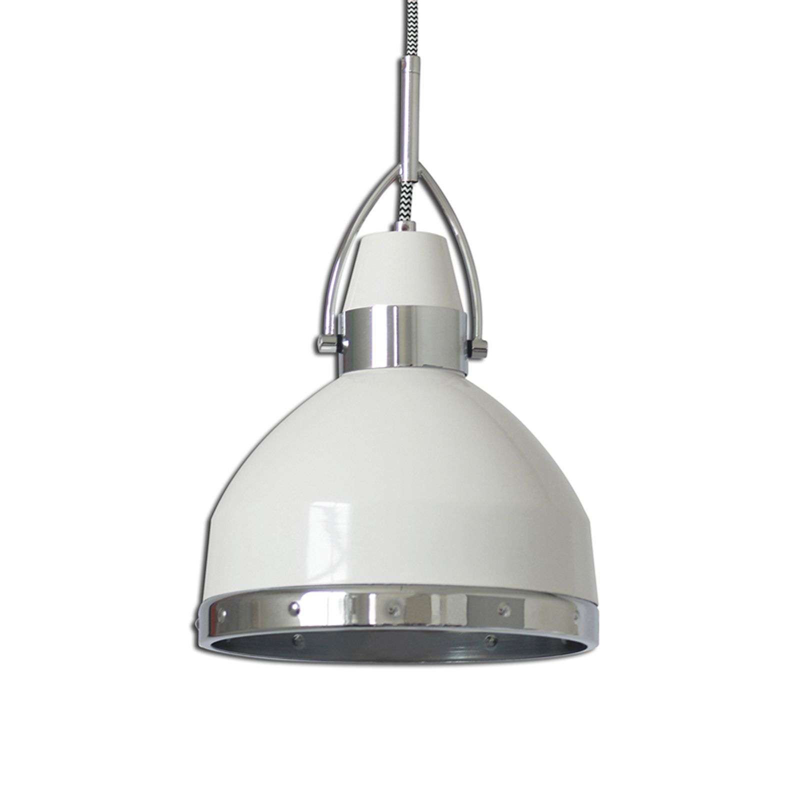 Suspension blanche Britta au design industriel