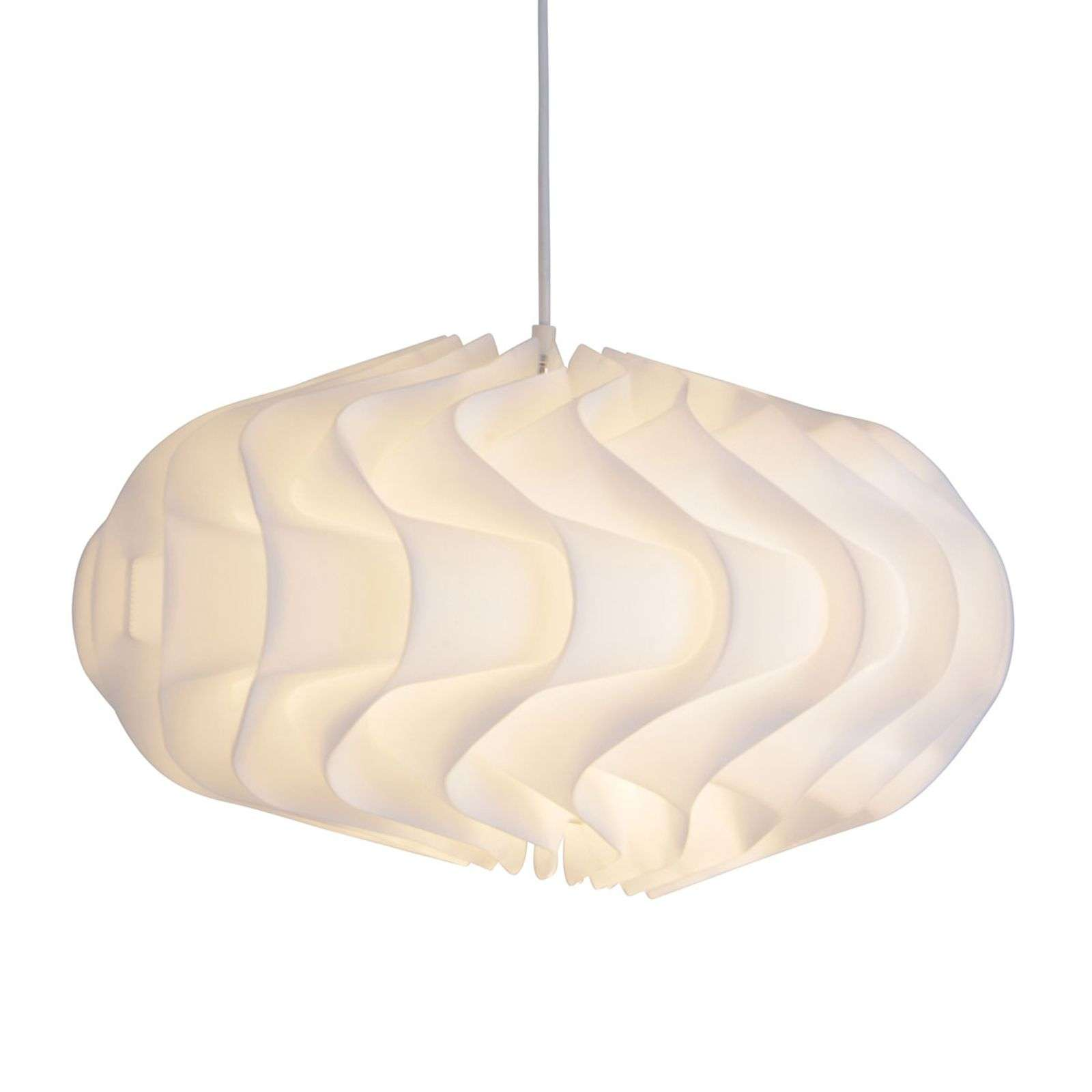 Suspension White en forme de vagues