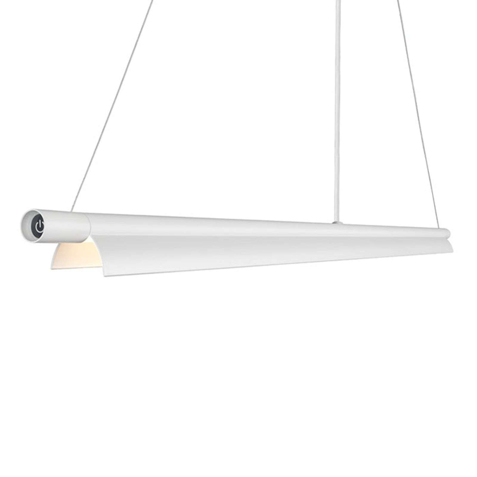 Suspension LED Space B allongée blanche