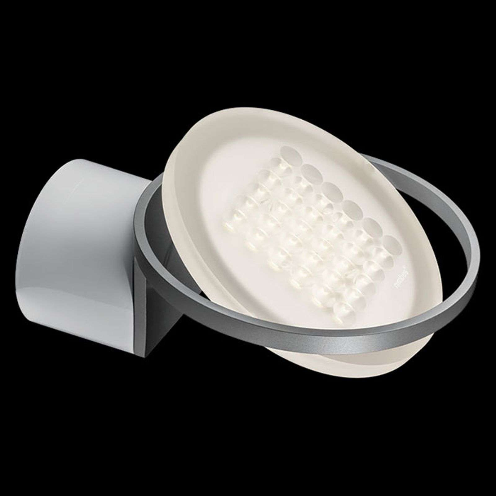 Nimbus Rim R 36 applique LED, argent tonic