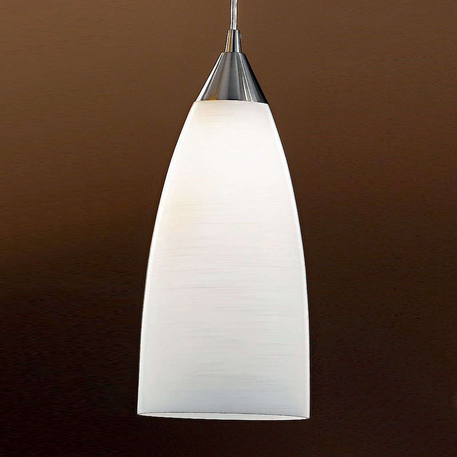 Suspension en verre estompé MADINA, D 15 cm blanc