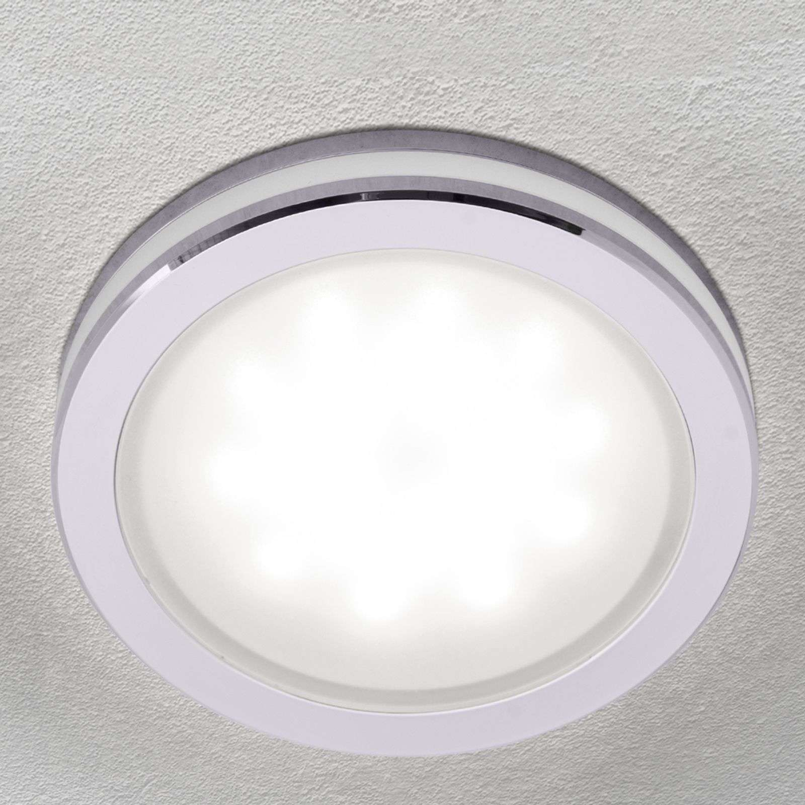 Plafonnier encastrable LED rond Finnian, dimmable