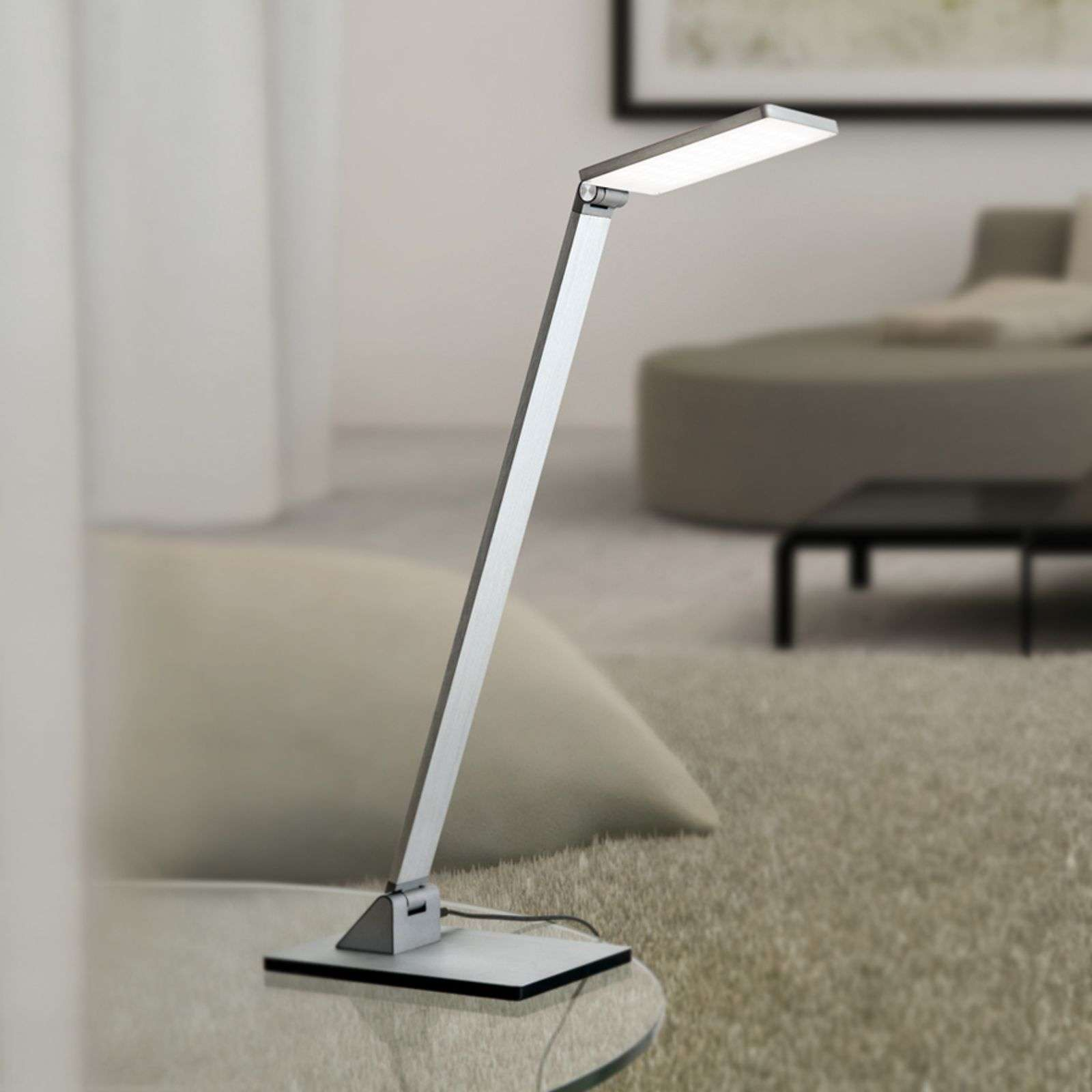 Lampe à poser LED Ayana, dimmable 4 niveaux