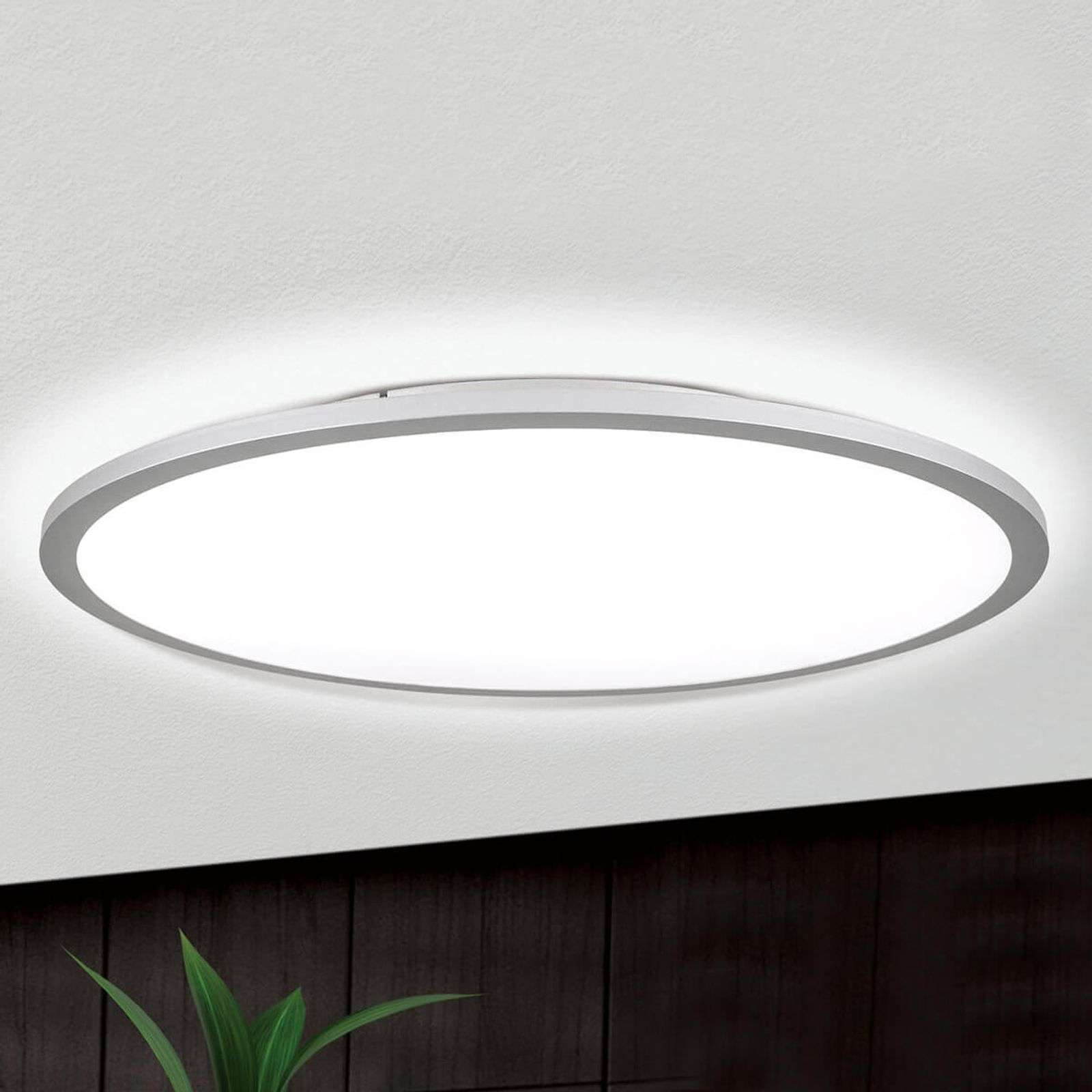 Plafonnier LED Aria titane, dimmable - 60 cm