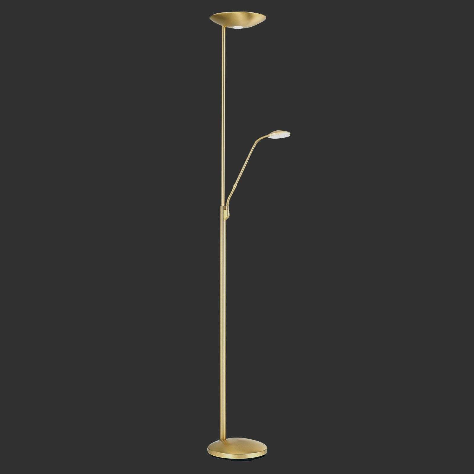Lampadaire indirect LED Cobra avec liseuse laiton