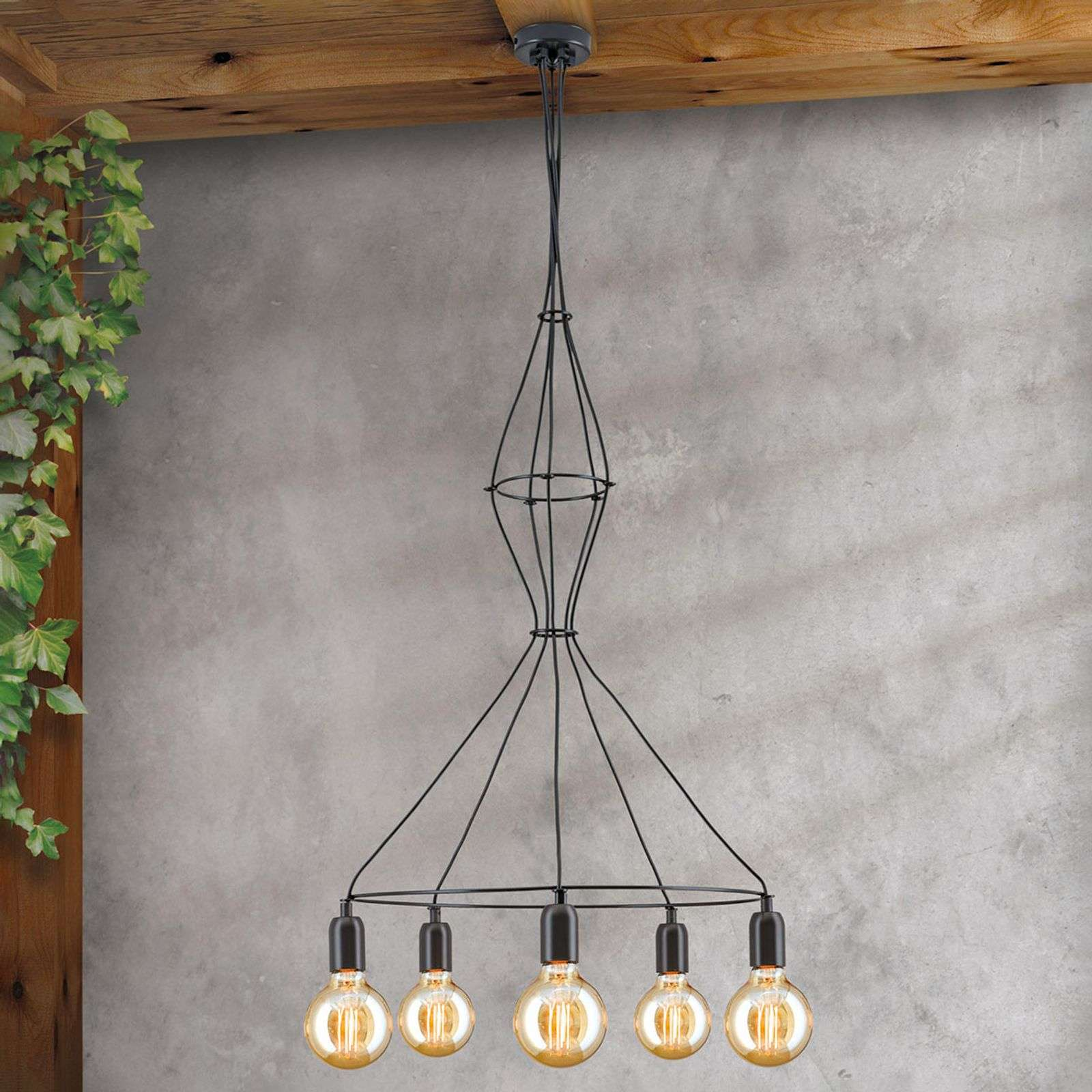 Suspension Emil au design vintage