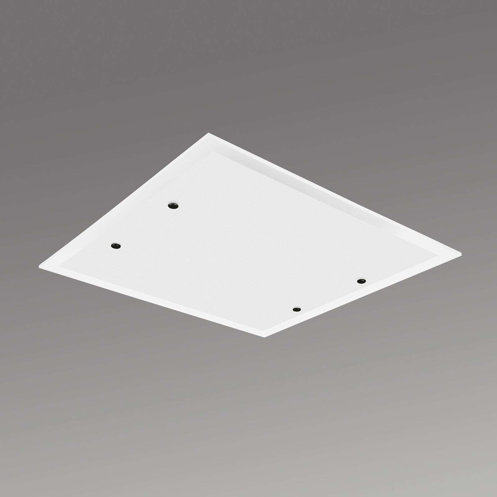 Plafonnier LED carré Area 30 cm, blanc neutre