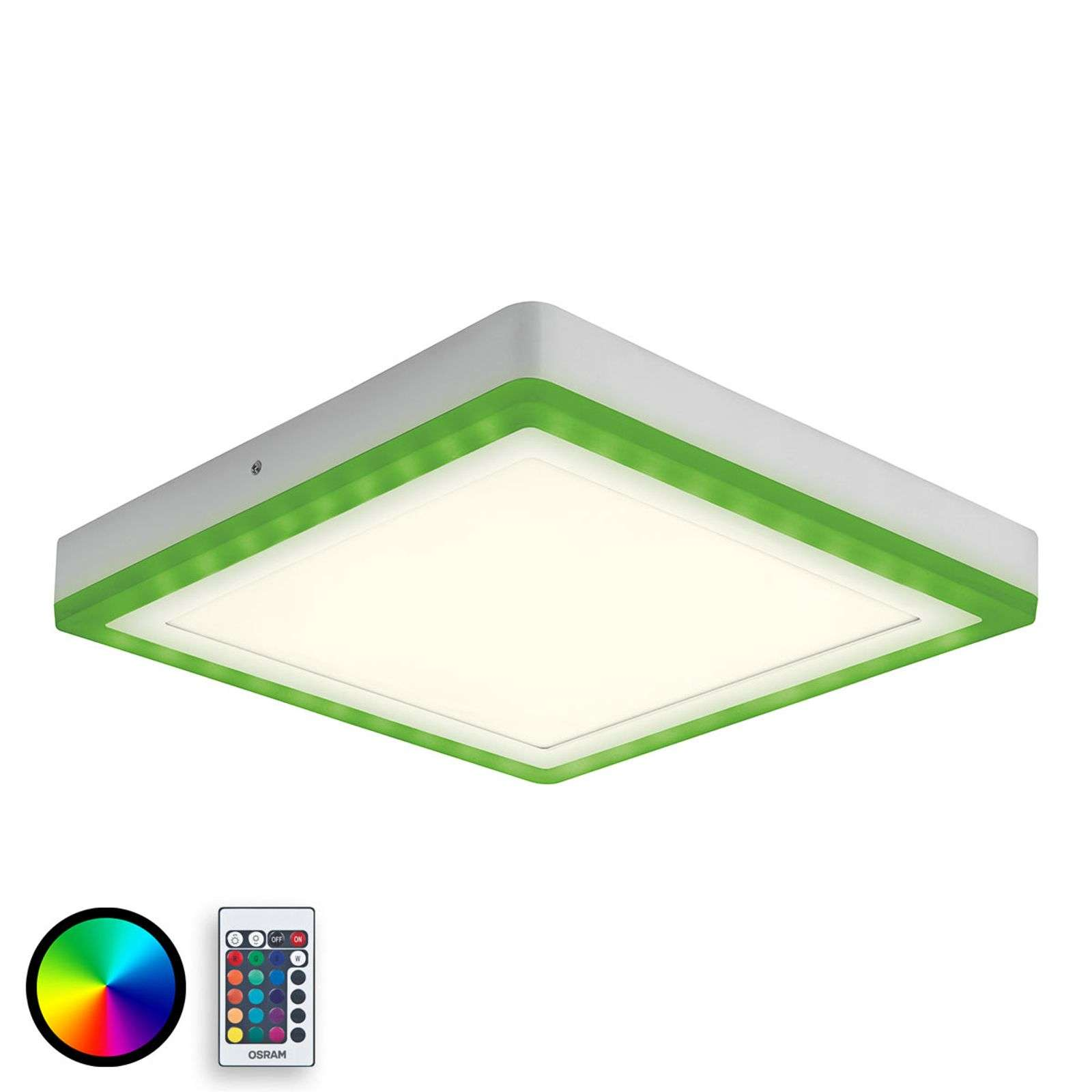 Plafonnier LED moderne Color+White Square