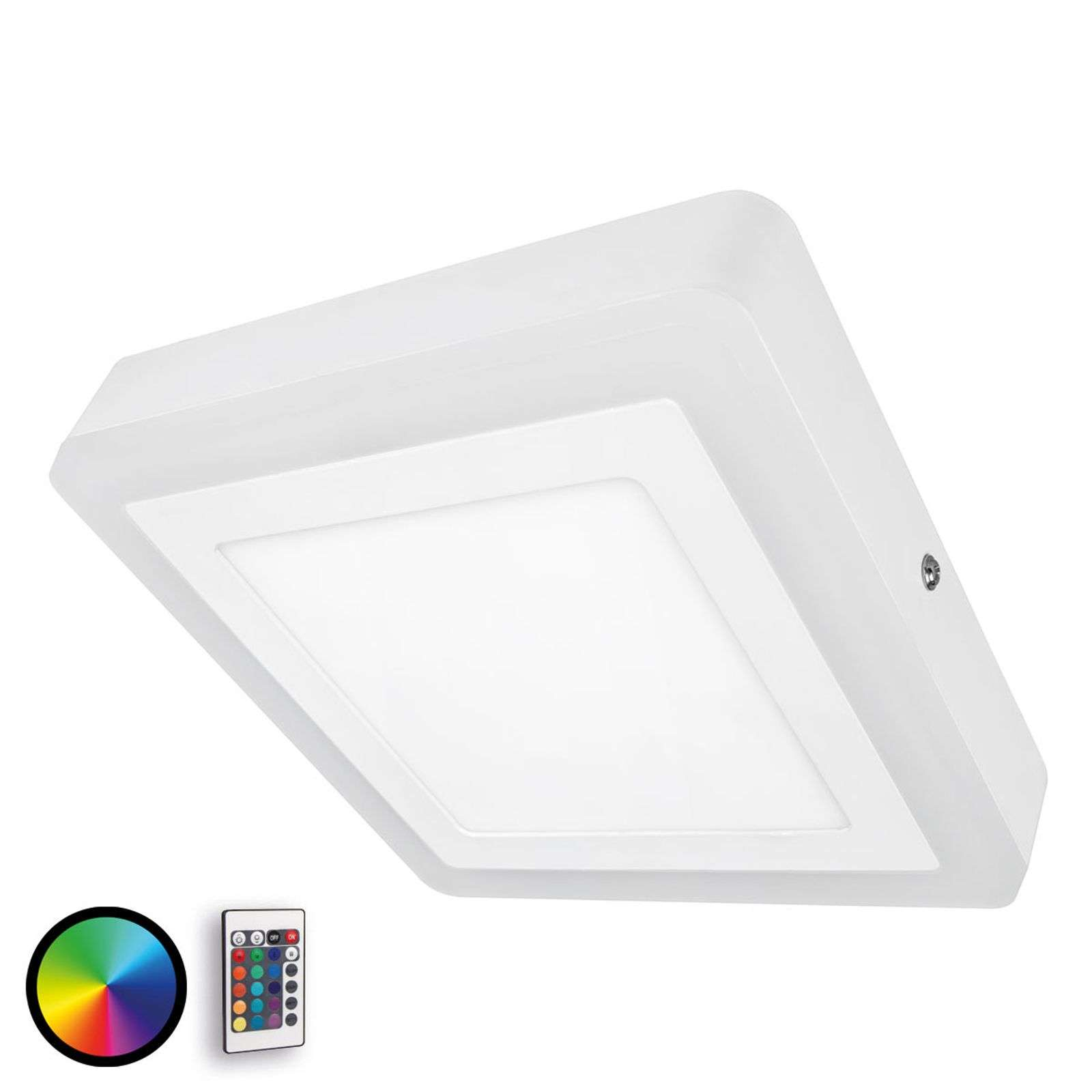 Applique murale LED dimmable Color+White Square