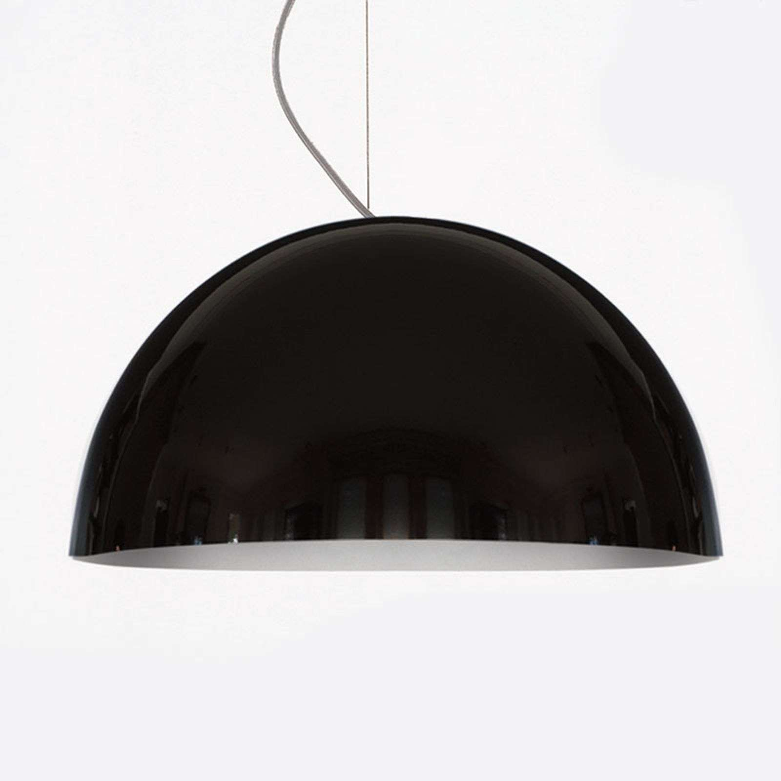 Oluce Sonora - suspension noire, 50 cm