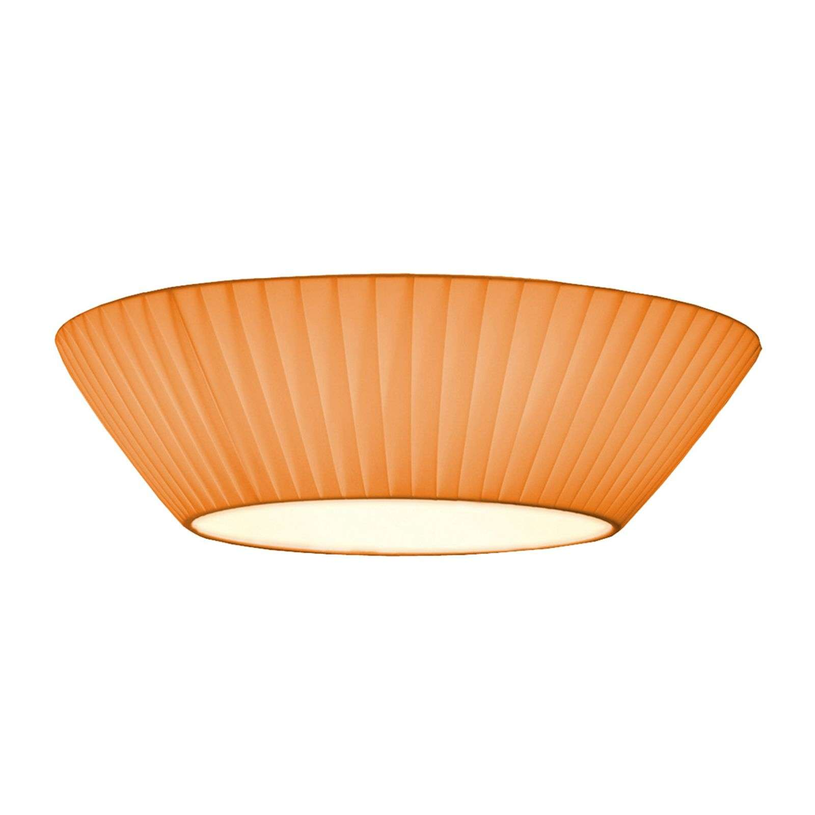 Plafonnier discret Emma diamètre 30 cm orange