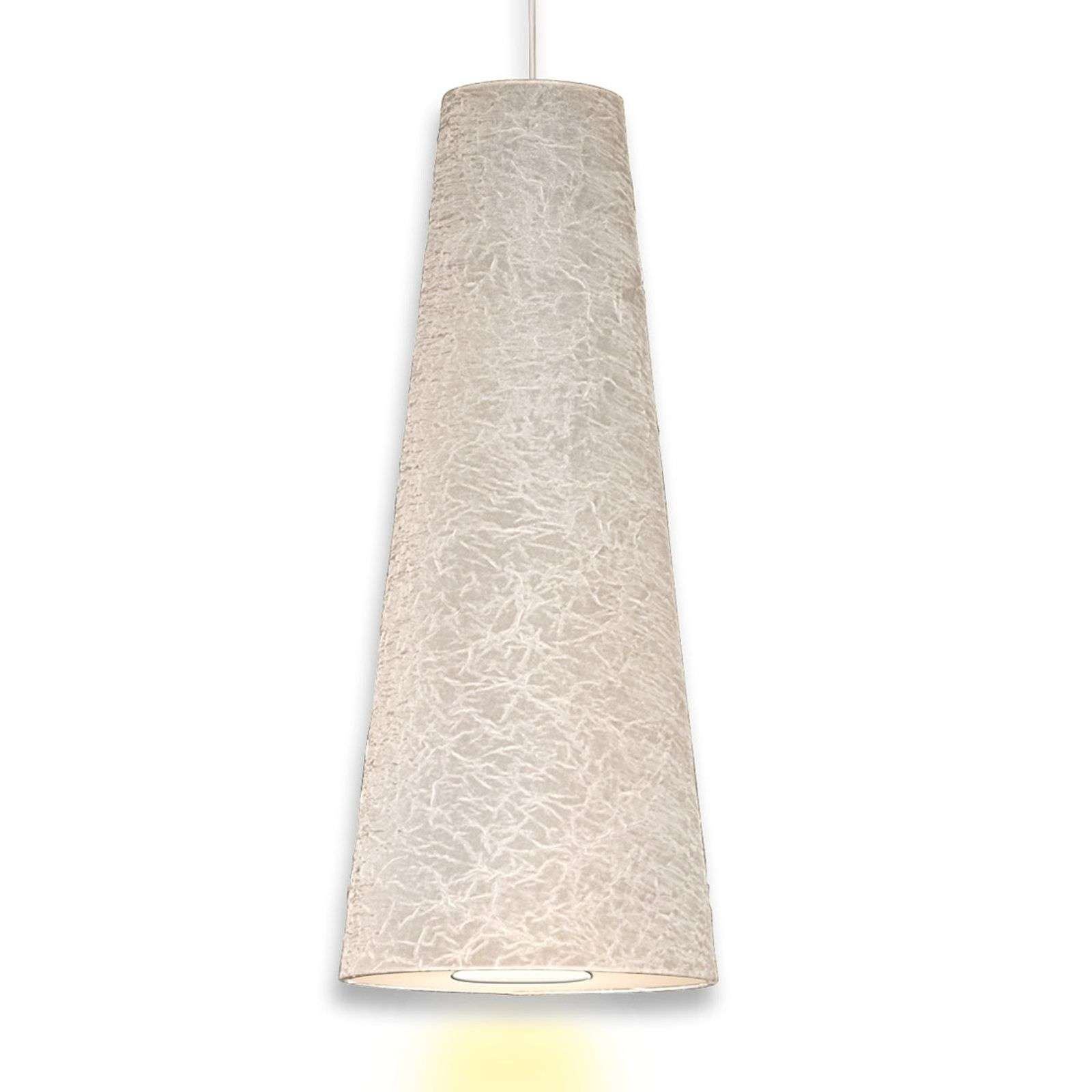 Suspension conique Regina 50 cm blanche