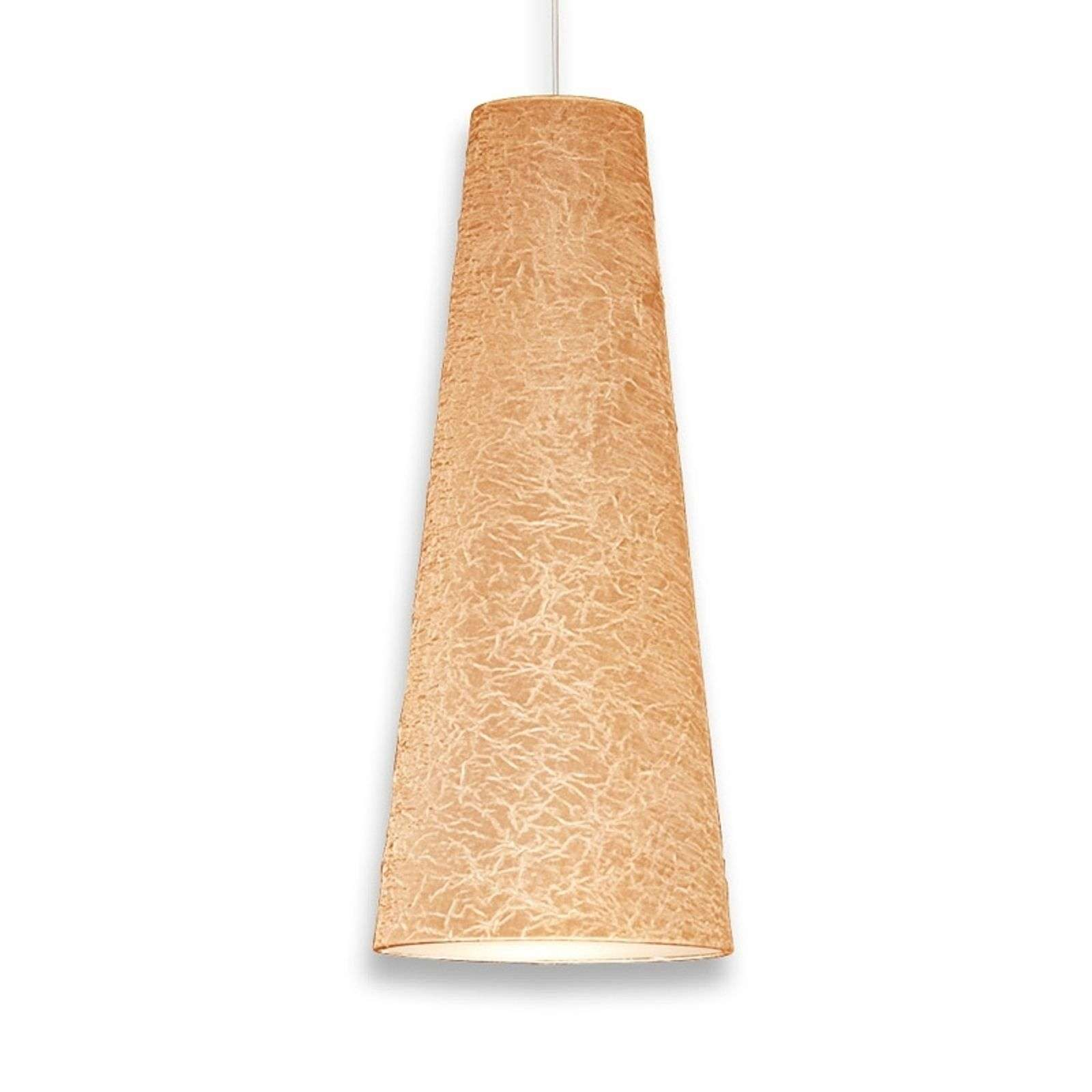 Suspension conique Regina 50 cm beige