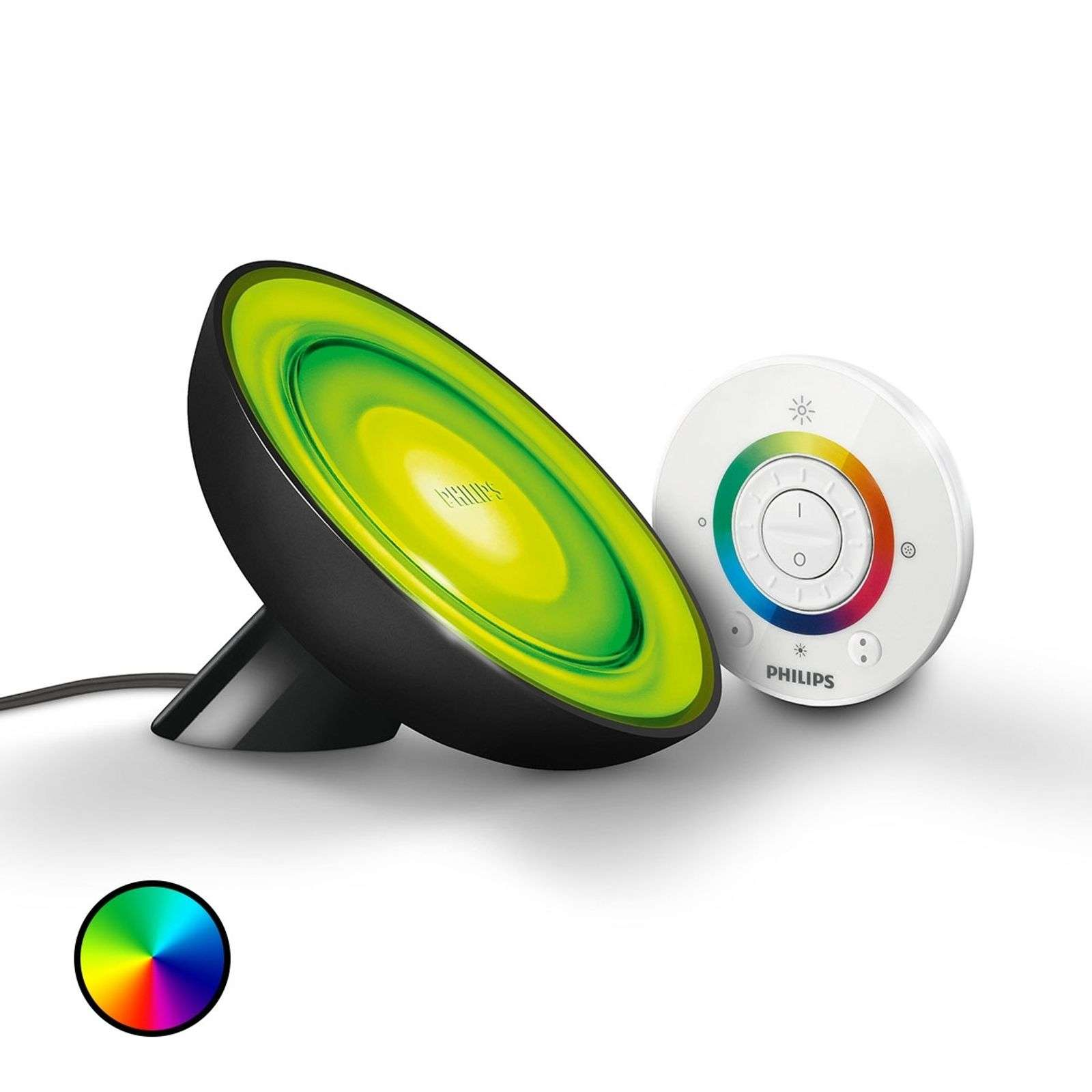 Lampe à poser LED Living Colors Bloom noire
