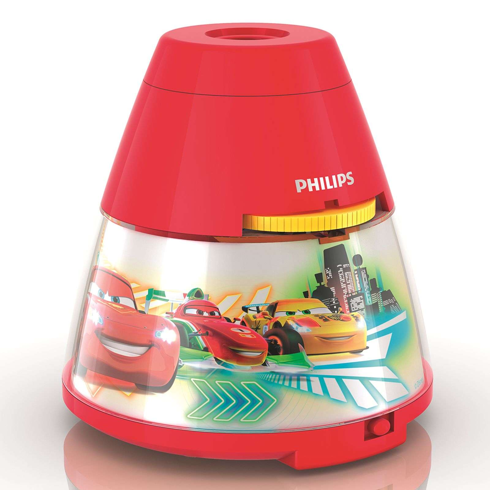 Lampe à poser LED Disney Cars avec projecteur
