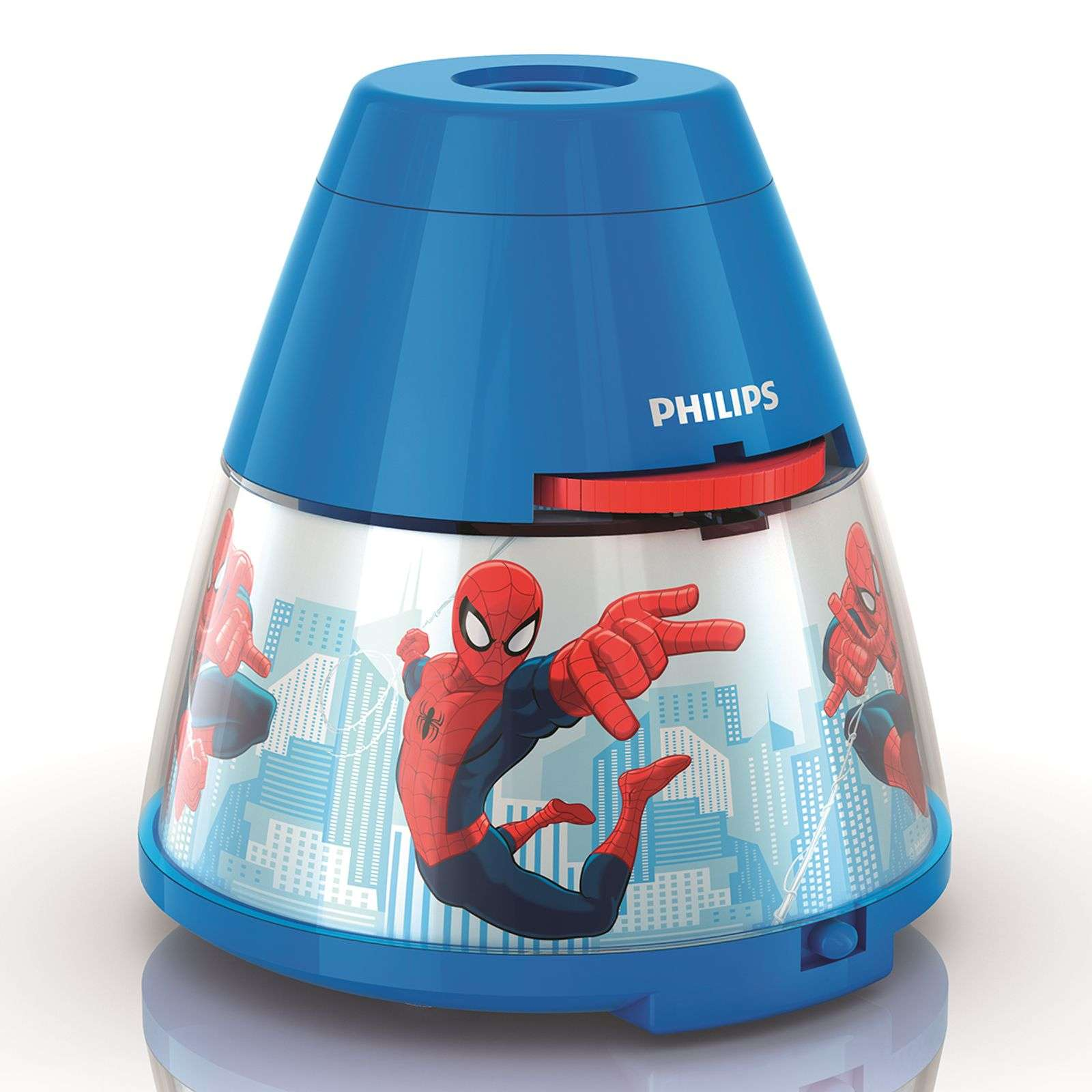 Lampe à poser LED Spiderman avec projecteur