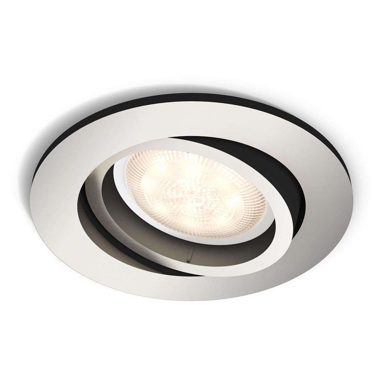 Spot encastrable LED Shellbark nickel, Warmglow