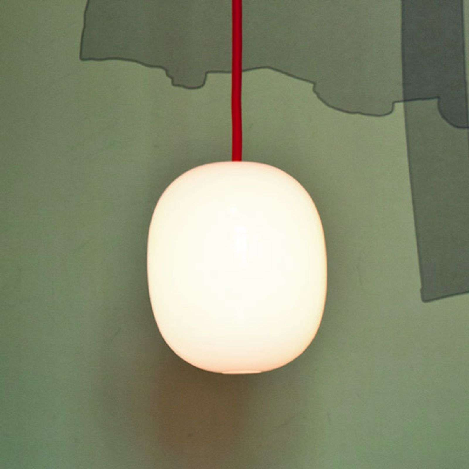 Suspension Super-Egg avec câble rouge