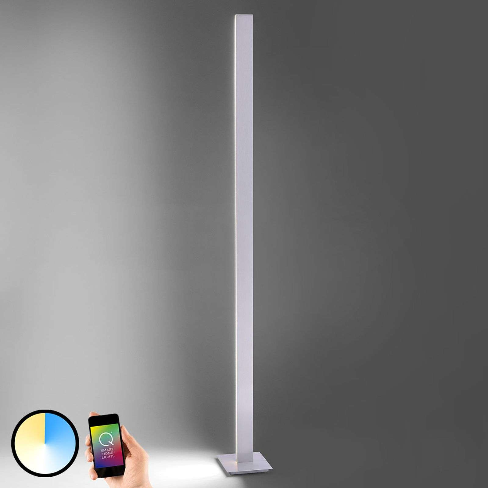 Lampadaire LED intelligent Q-Cora avec TC