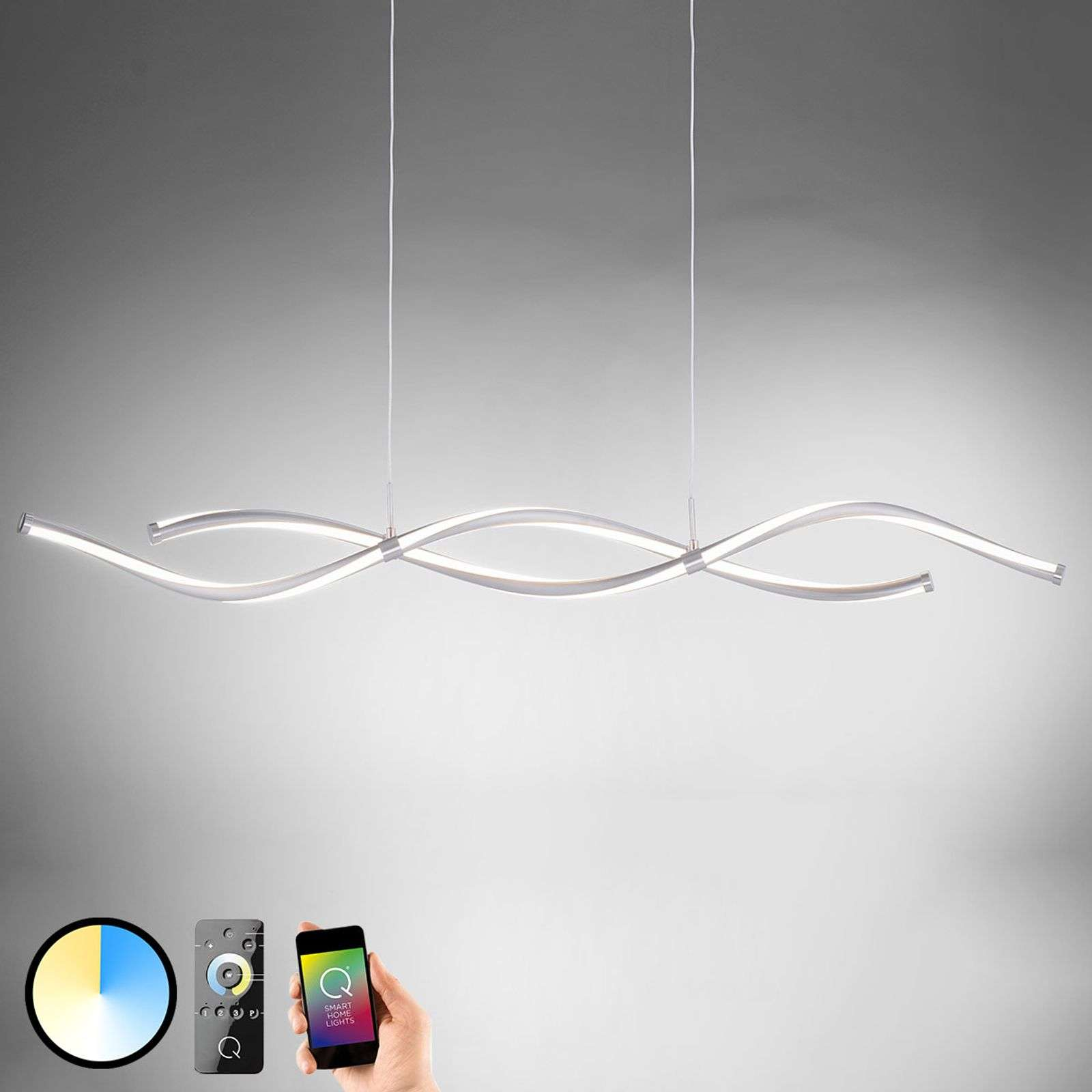 Q-Malina suspension LED, forme d'onde contrôlable