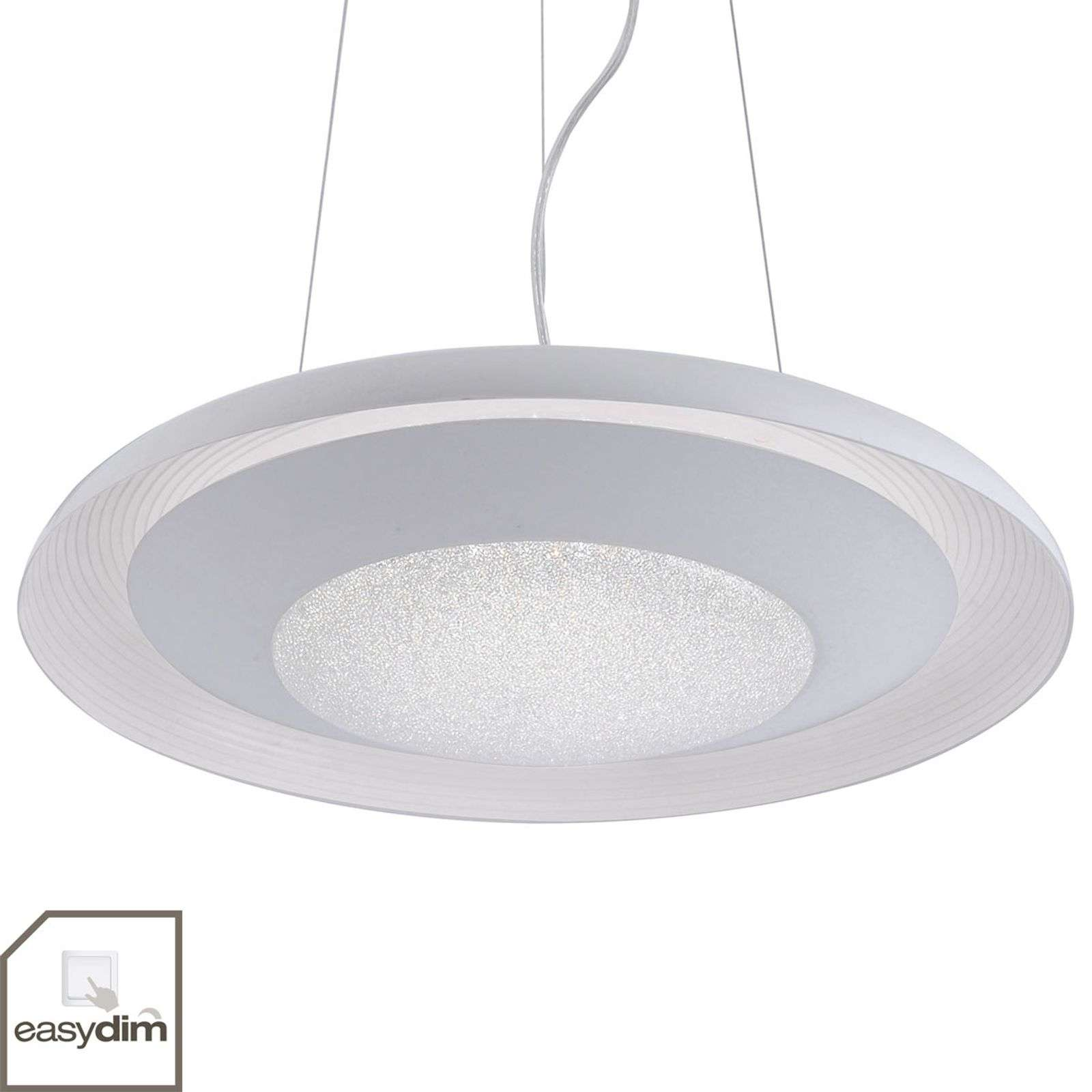 Suspension LED blanc Sarina - réglable en continu