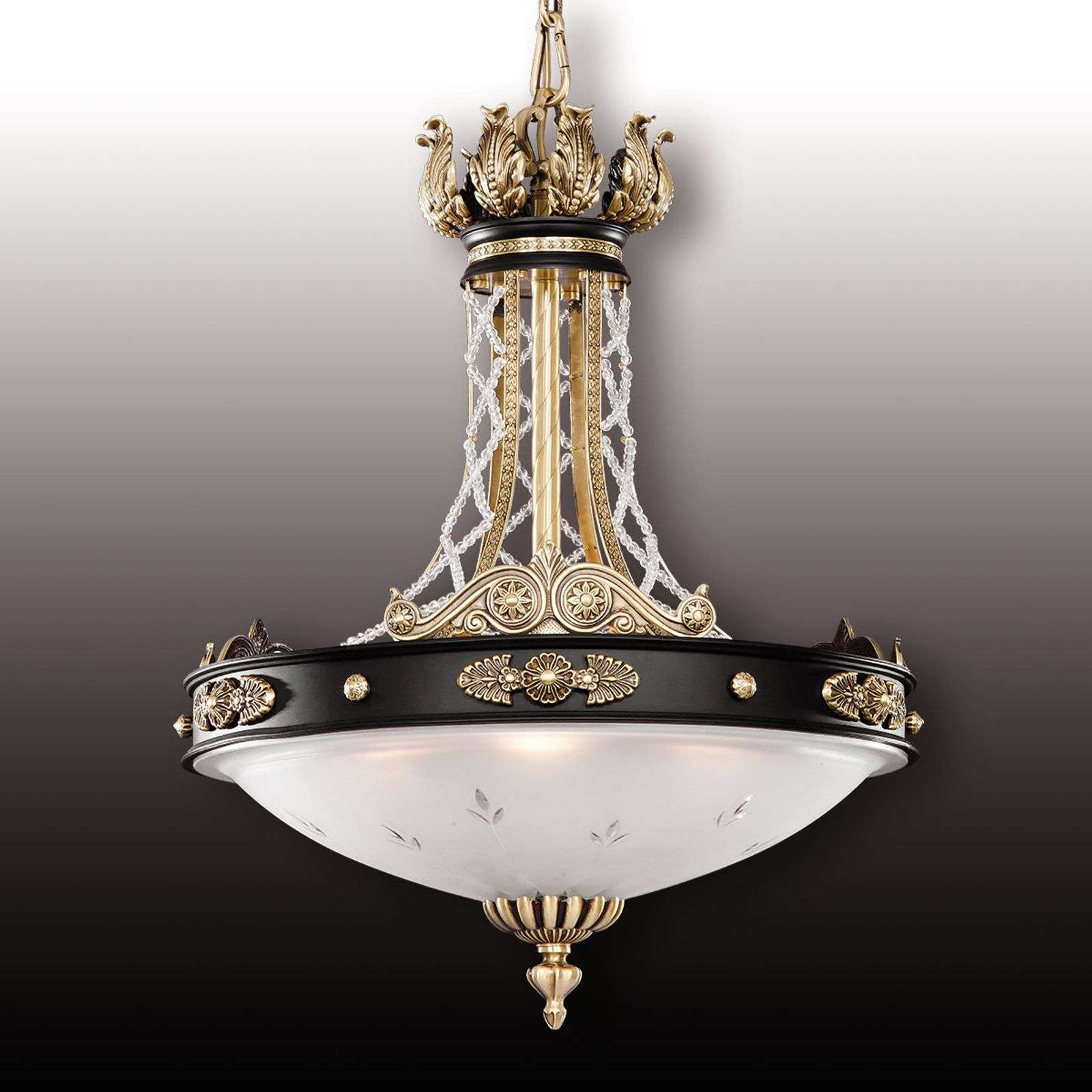 Suspension Tudor avec cristal Asfour