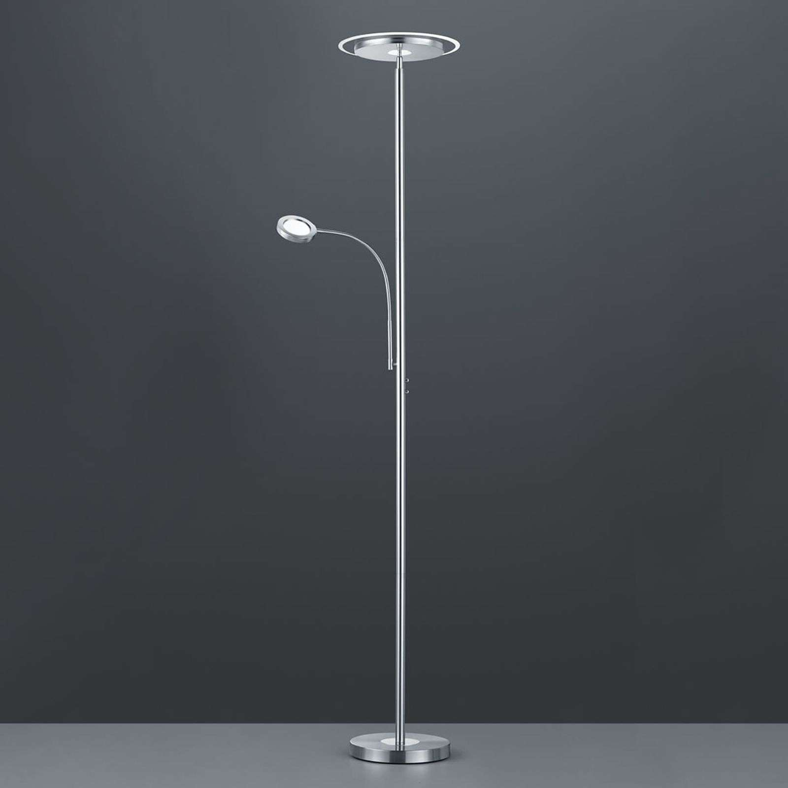 Lampadaire à éclairage indirect LED Ackbar rond