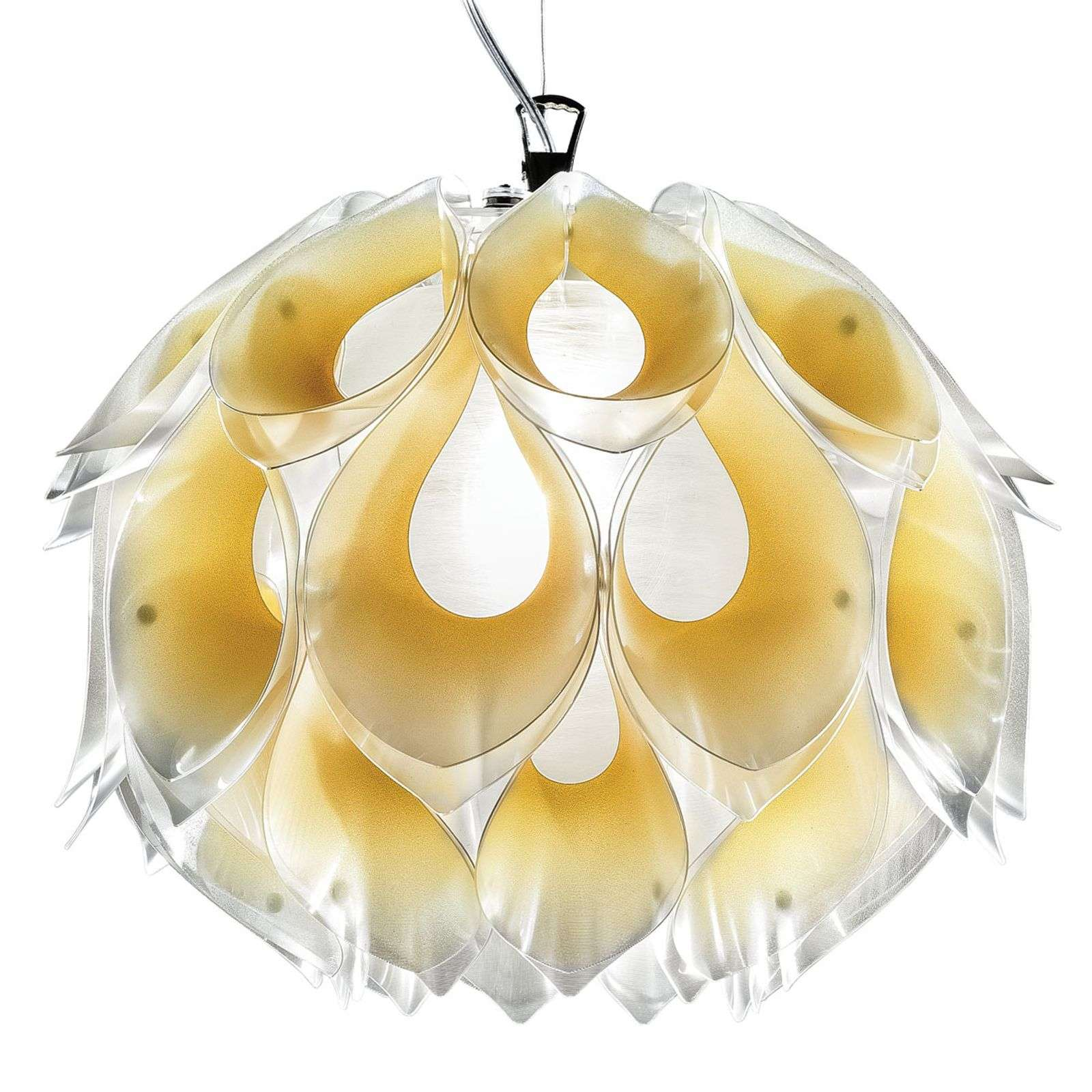 Magnifique suspension chatoyante Flora M, jaune