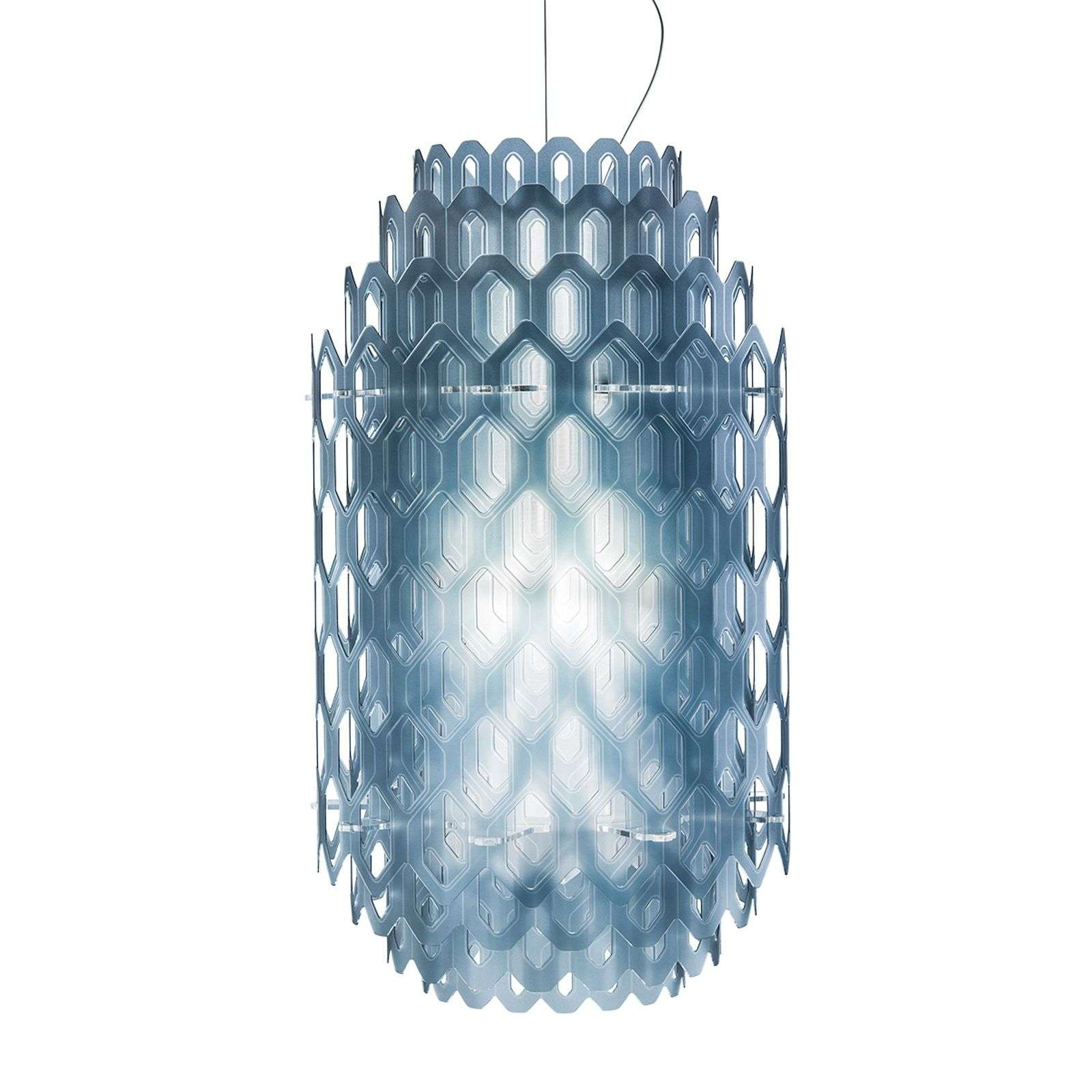 Suspension LED design Chantal, bleu