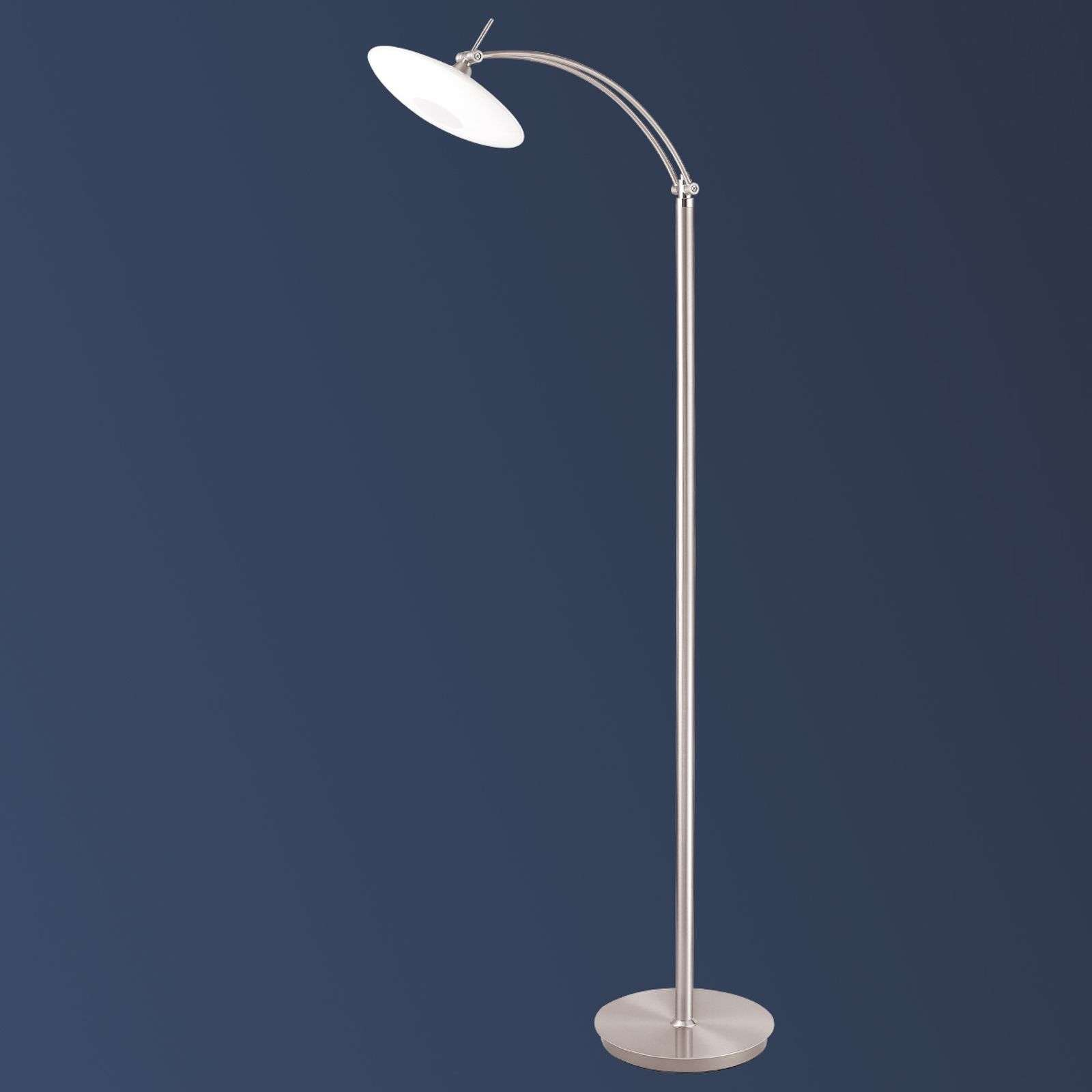 Lampadaire LED New Elina Nickel à une lampe