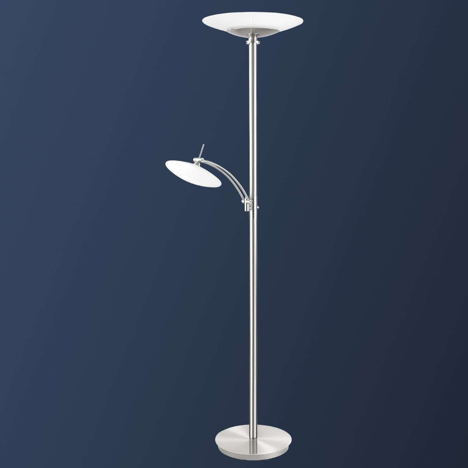 Lampadaire LED New Elina Nickel à deux lampes