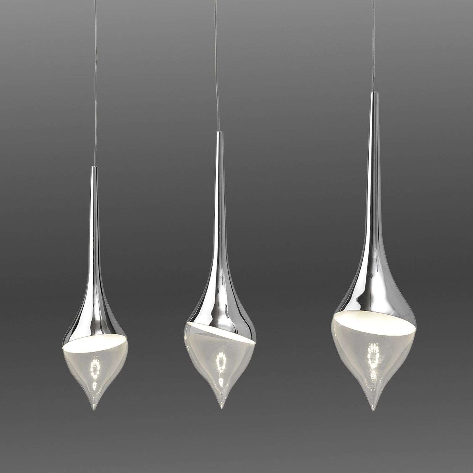 Suspension LED Tear, 3 lampes