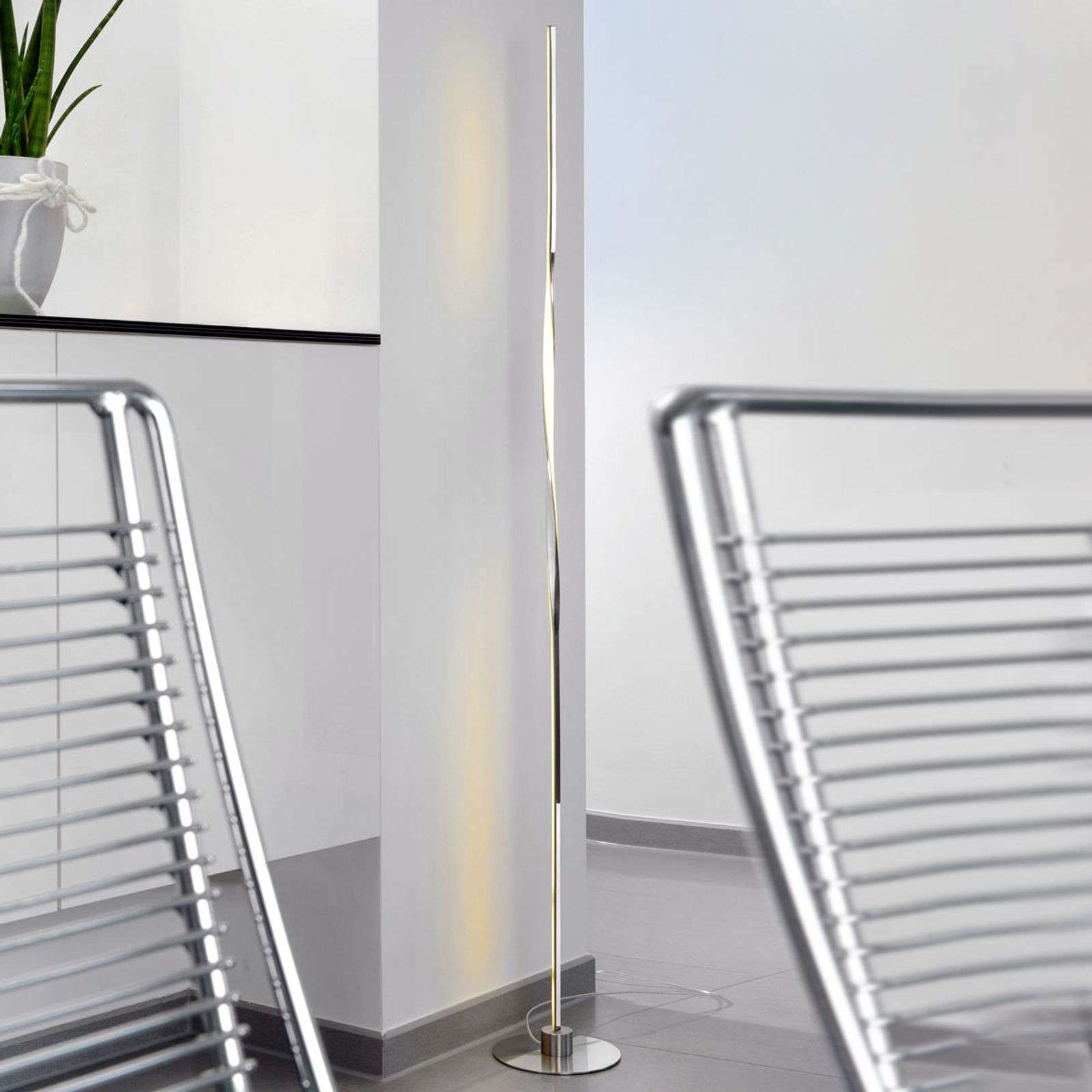 Lampadaire LED Twister, 122 cm