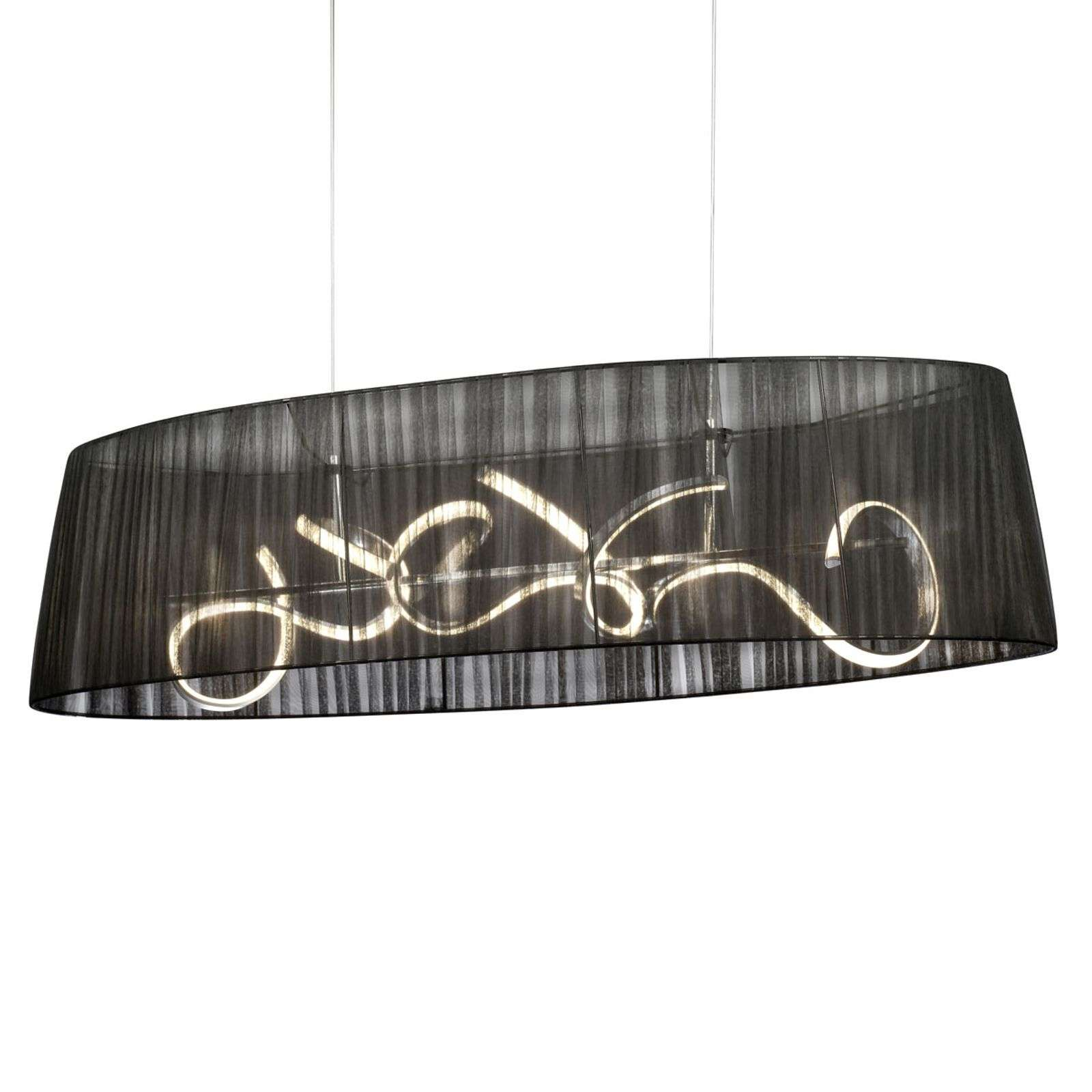 Suspension LED ovale Organza