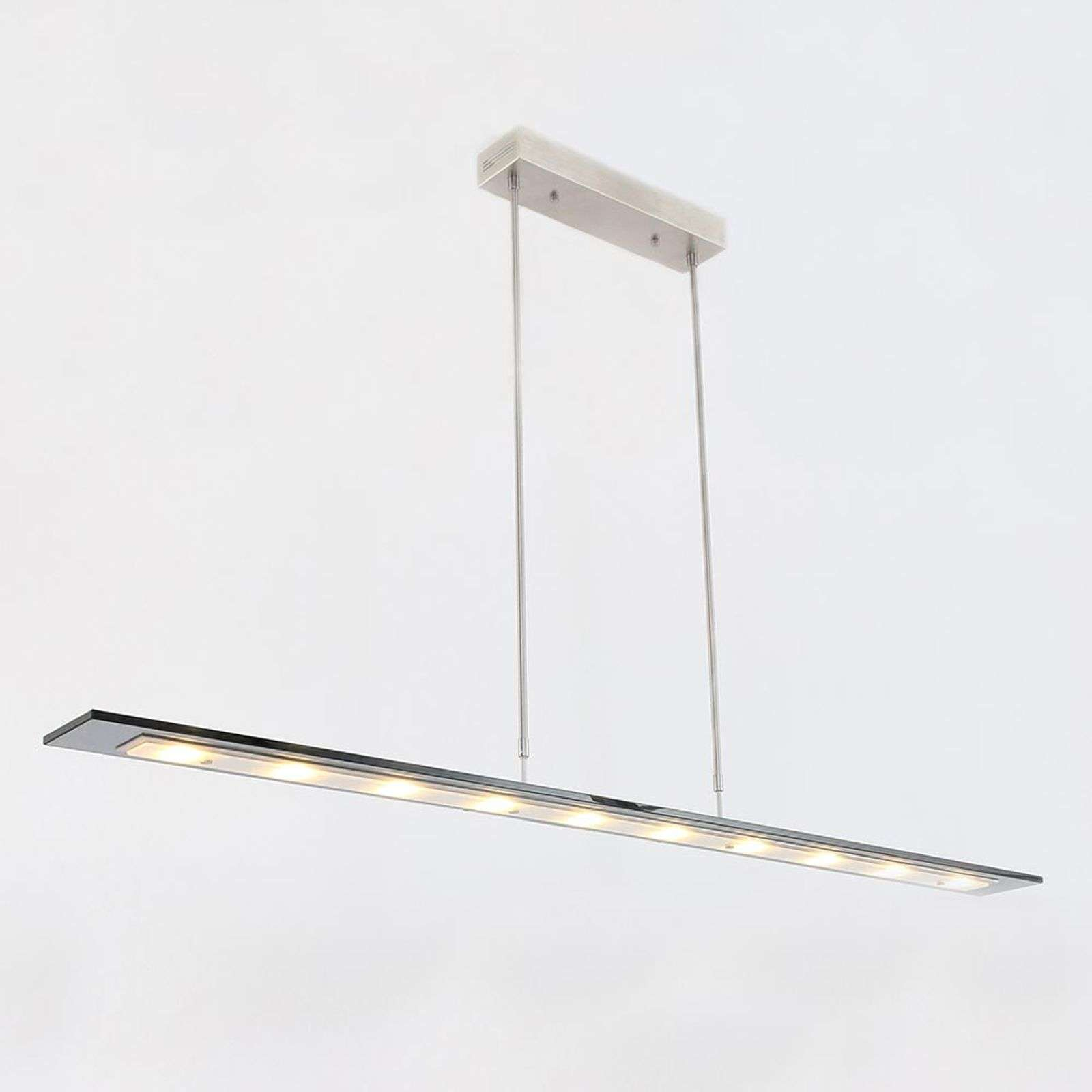 Plato - Suspension LED 140cm de long gris clair