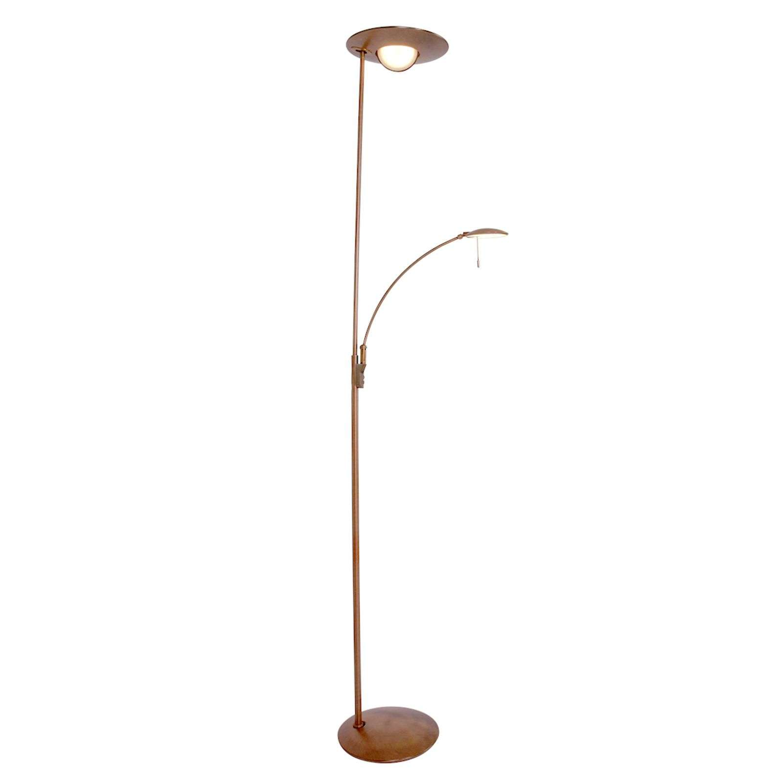 Lampadaire LED Zenith couleur bronze, dimmable