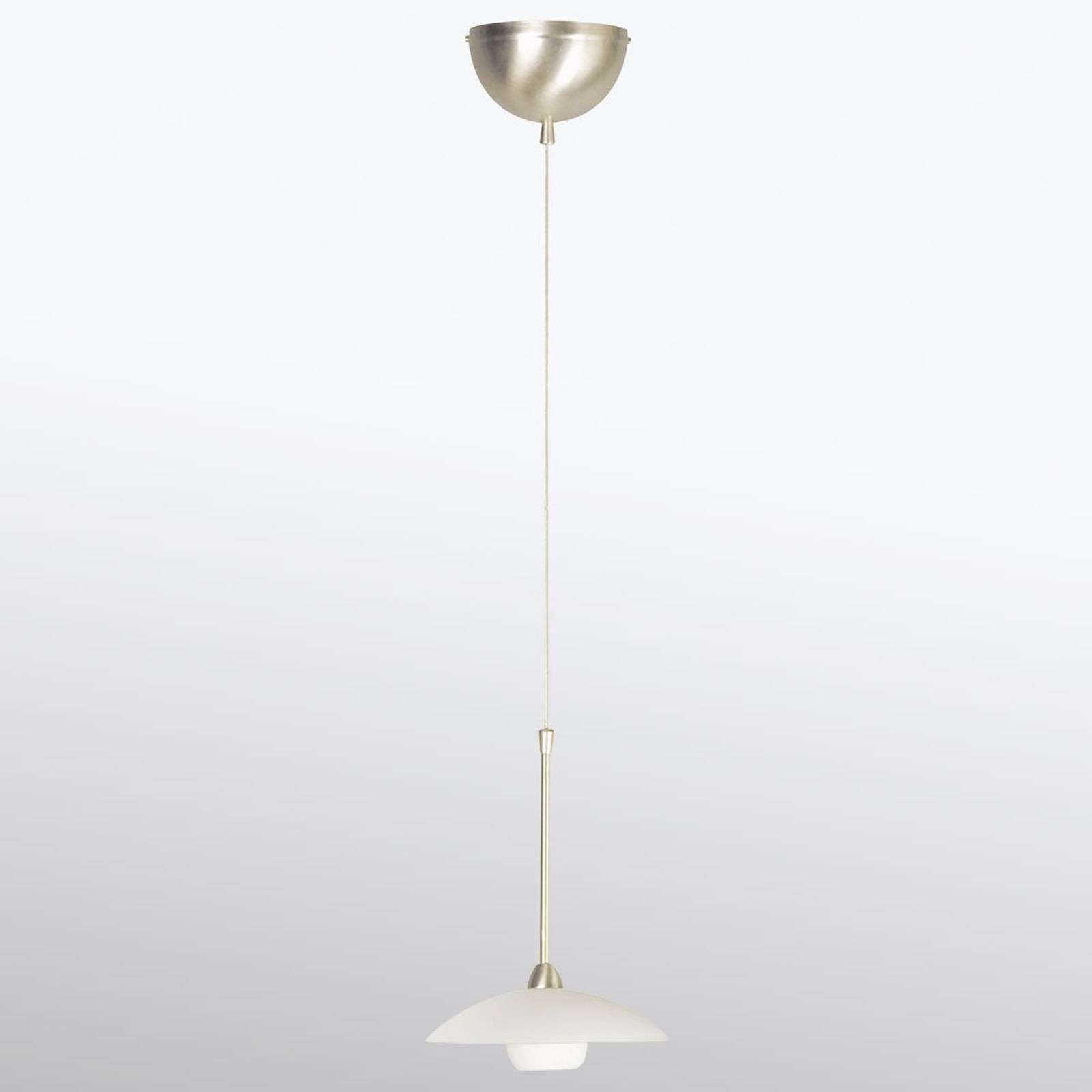 Petite suspension LED en verre Monarch