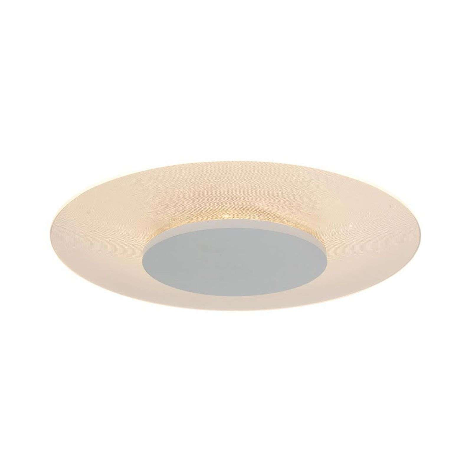Plafonnier LED rond Pikka blanc, dimmable