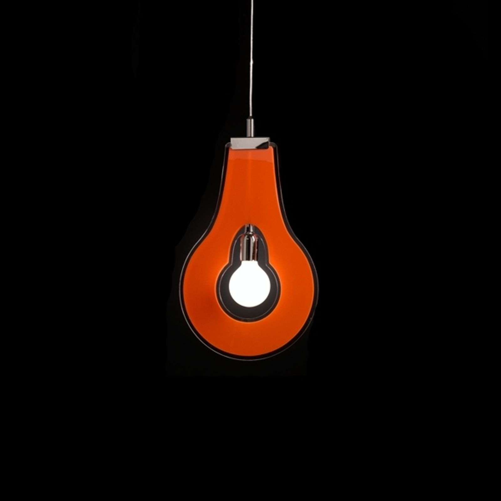Suspension décorative Flat orange