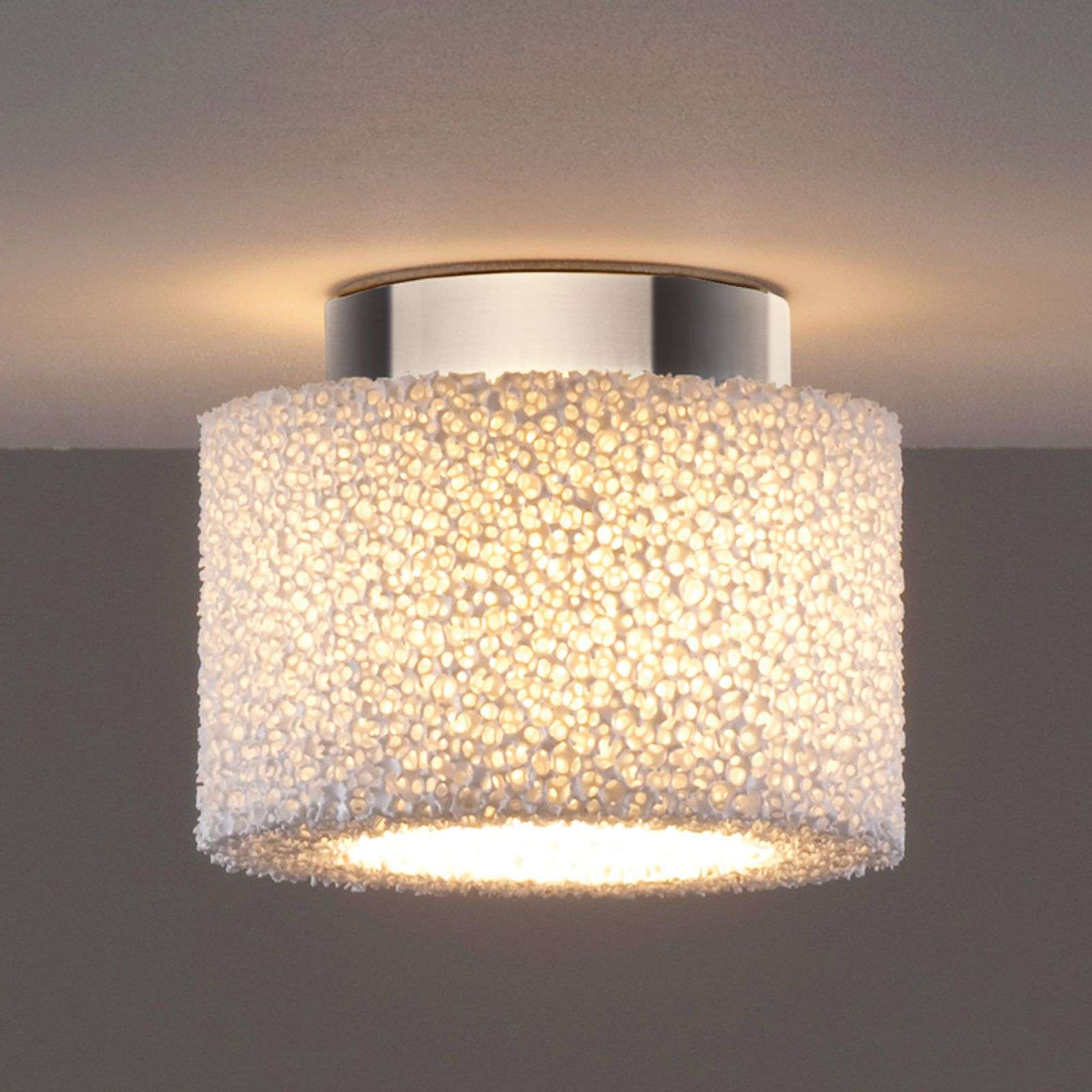 Plafonnier LED Reef en mousse céramique