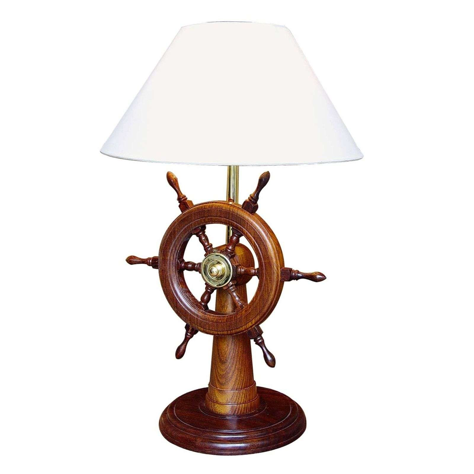 Remarquable lampe à poser HELMSTAND bois