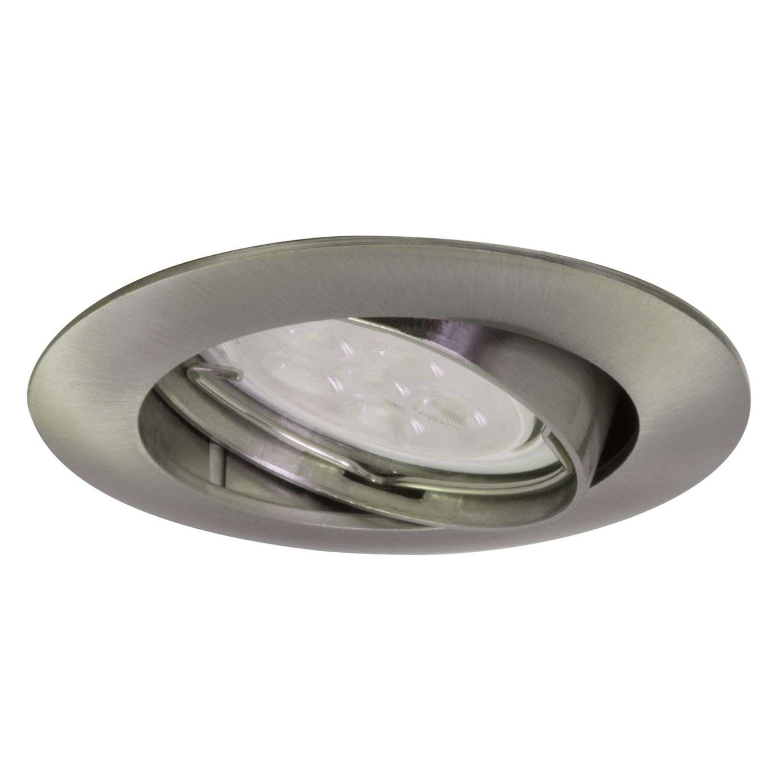 Spot encastrable Downlight DIM Flat, nickel