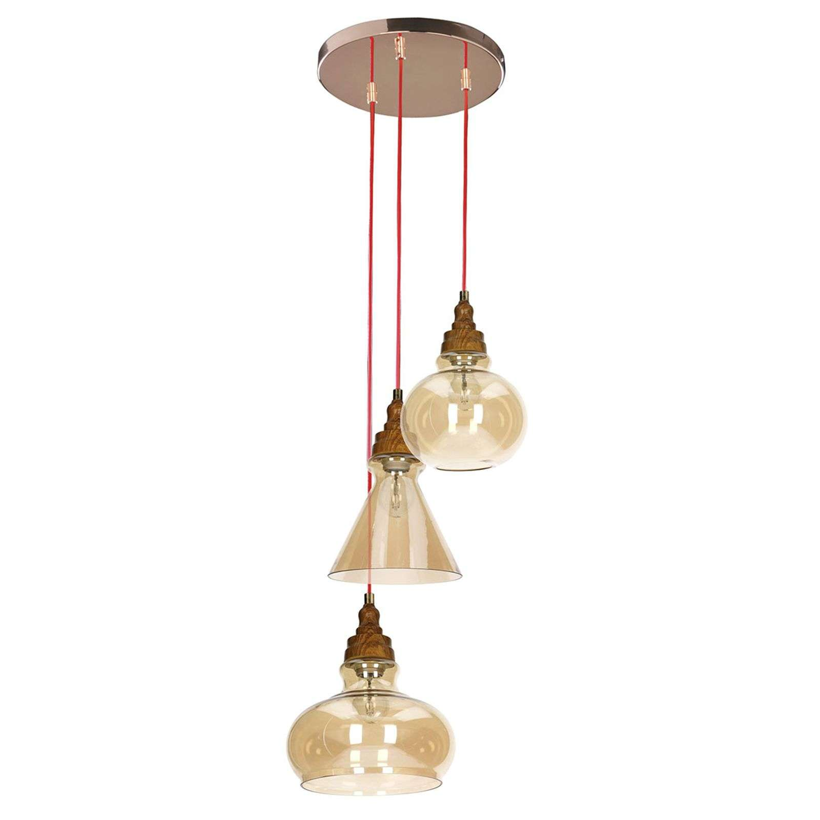 Remarquable suspension Universe, 3 lampes