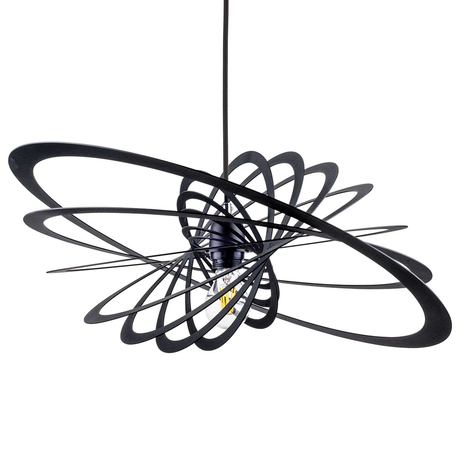 Suspension exceptionnelle Planet, 60cm, noire