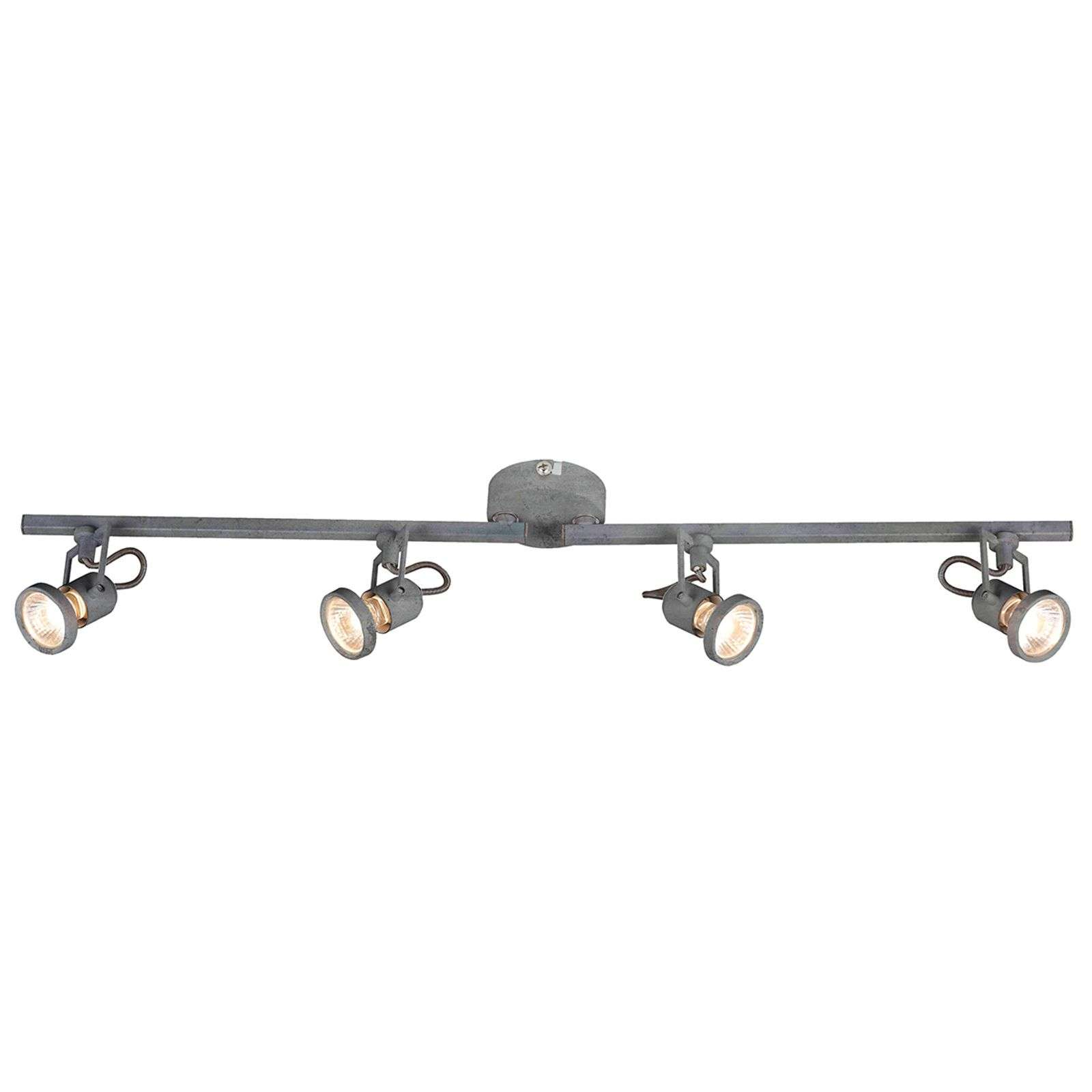 Plafonnier LED Concreto ajustable, 4 lampes