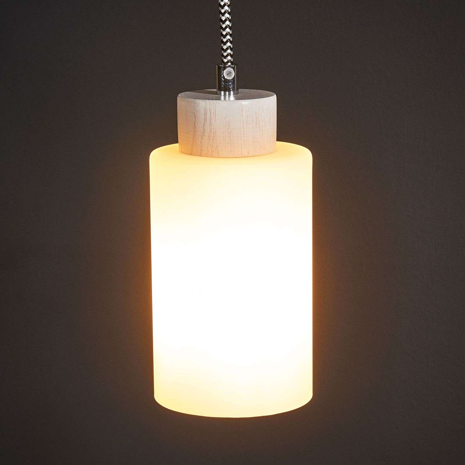 Suspension à une lampe Bosco blanc