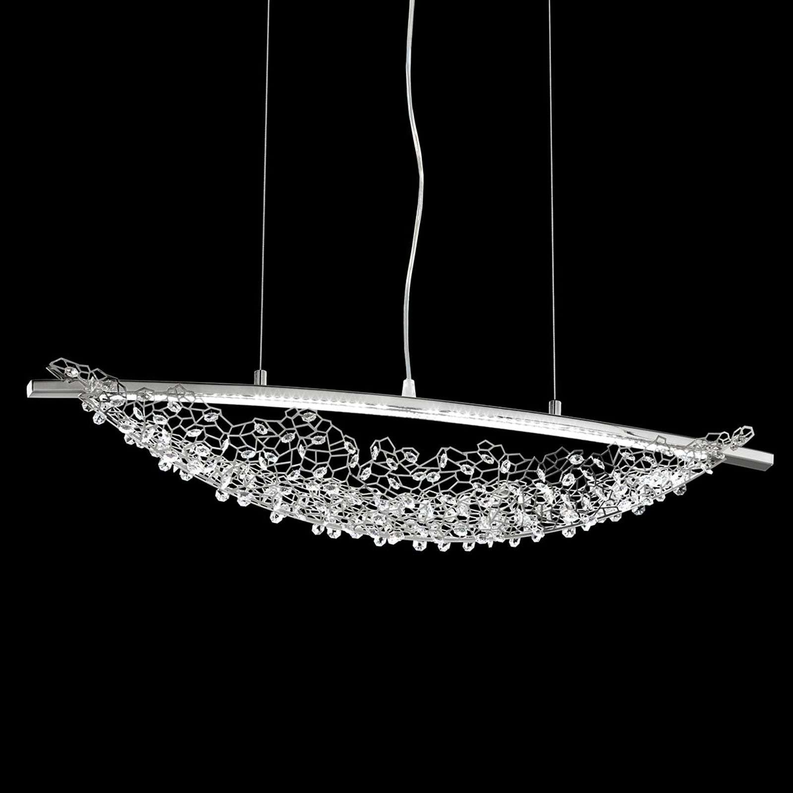 Suspension LED Amaca avec Swarovski, 76 cm