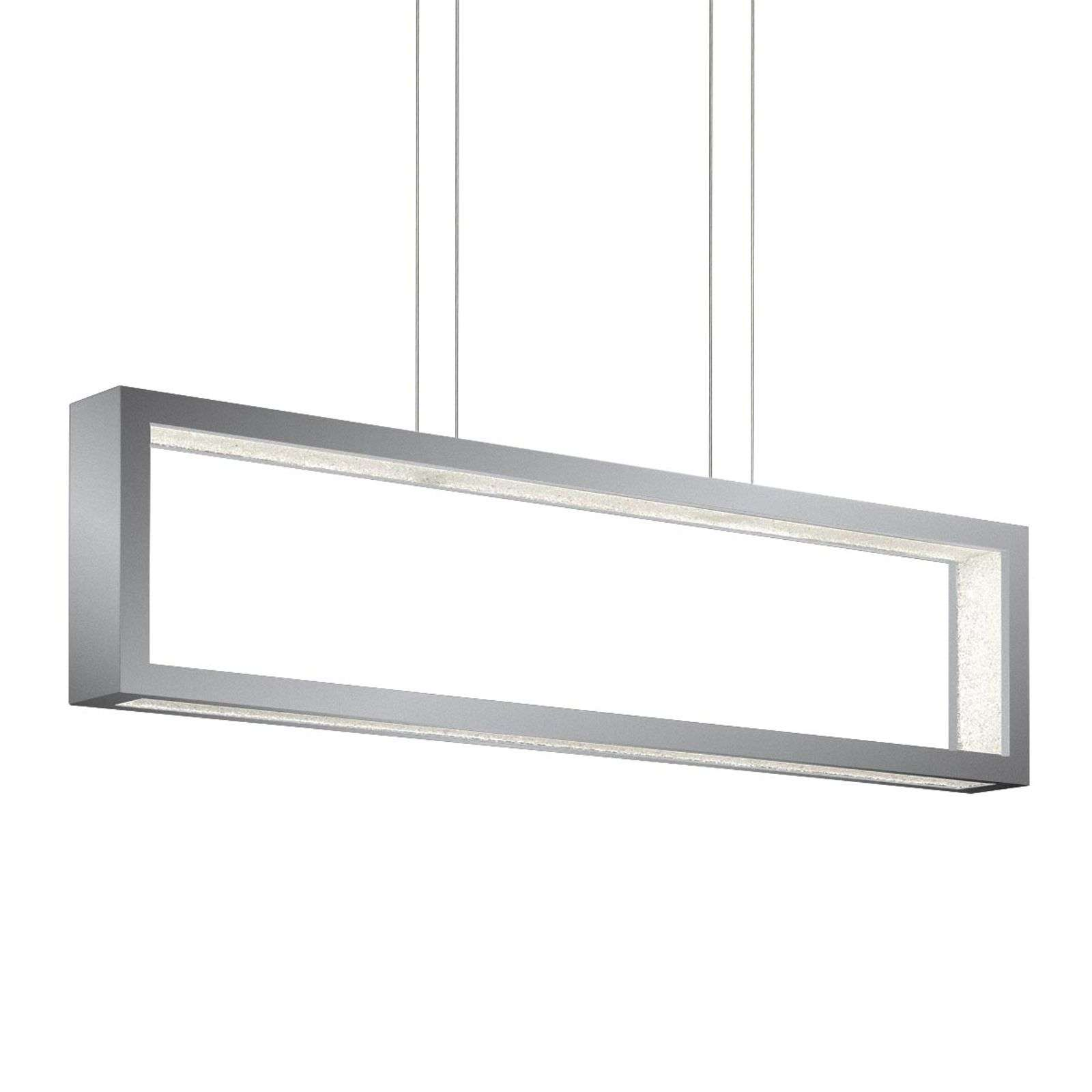 Suspension cristal LED Revealed Open, argenté